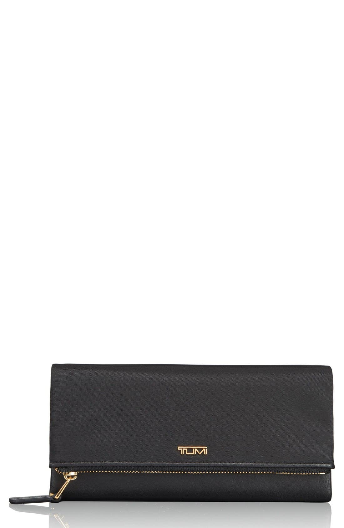 Continental Flap Tech Wallet,                             Main thumbnail 1, color,                             Black