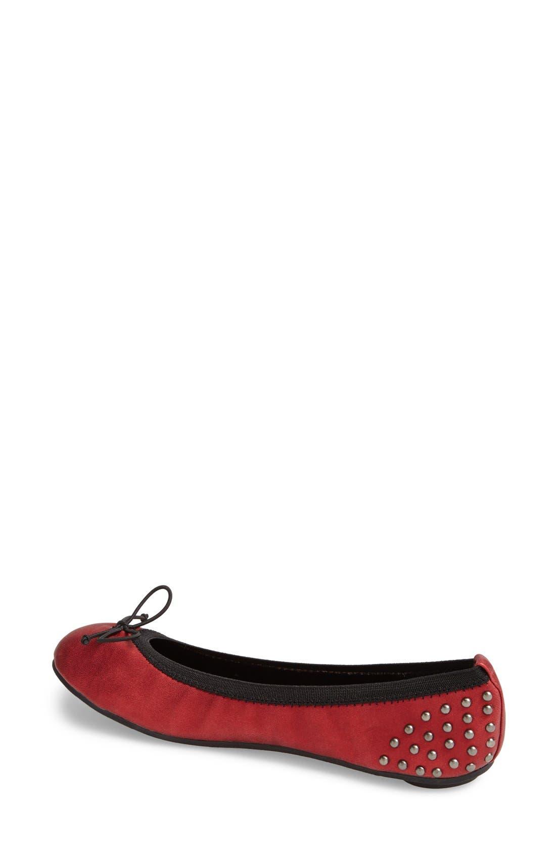 Alternate Image 2  - Footzyfolds 'Tonya' Foldable Ballet Flat (Women)