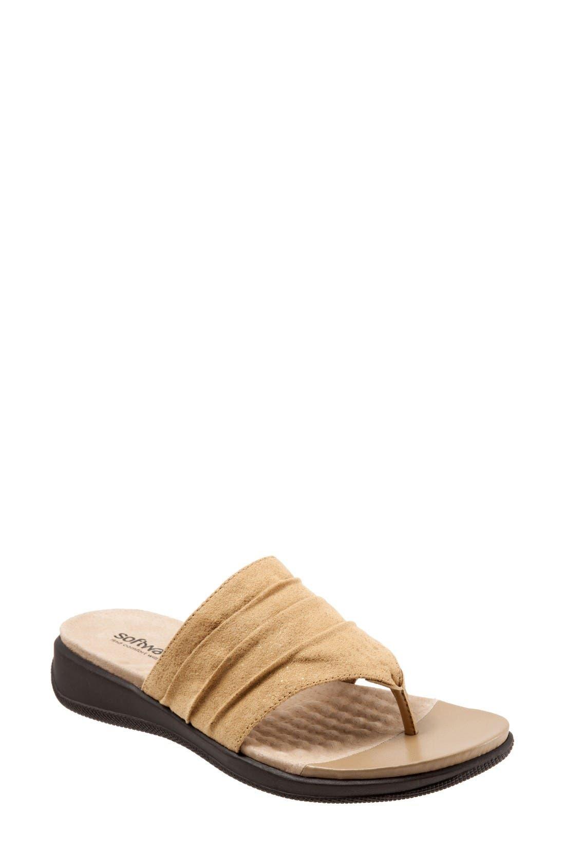 Alternate Image 1 Selected - SoftWalk® 'Toma' Thong Sandal (Women)