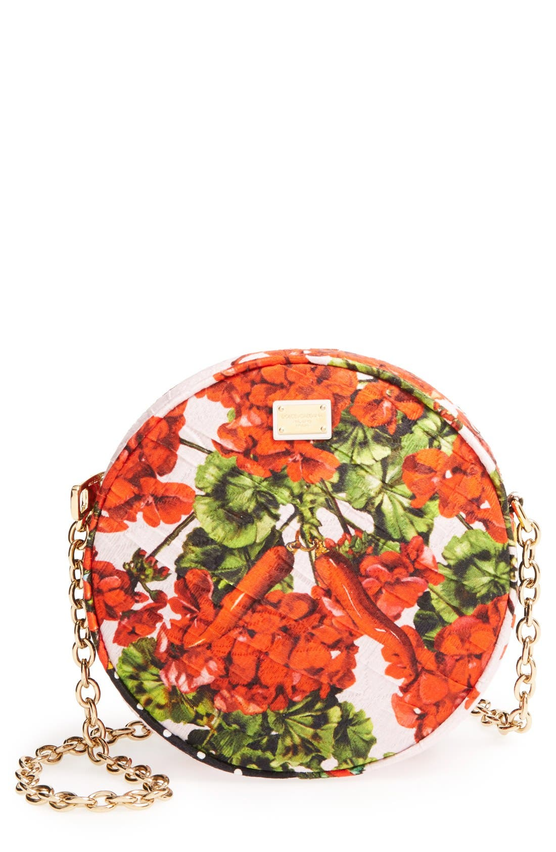 Alternate Image 1 Selected - Dolce&Gabbana 'Miss Glam' Floral Print Crossbody Bag