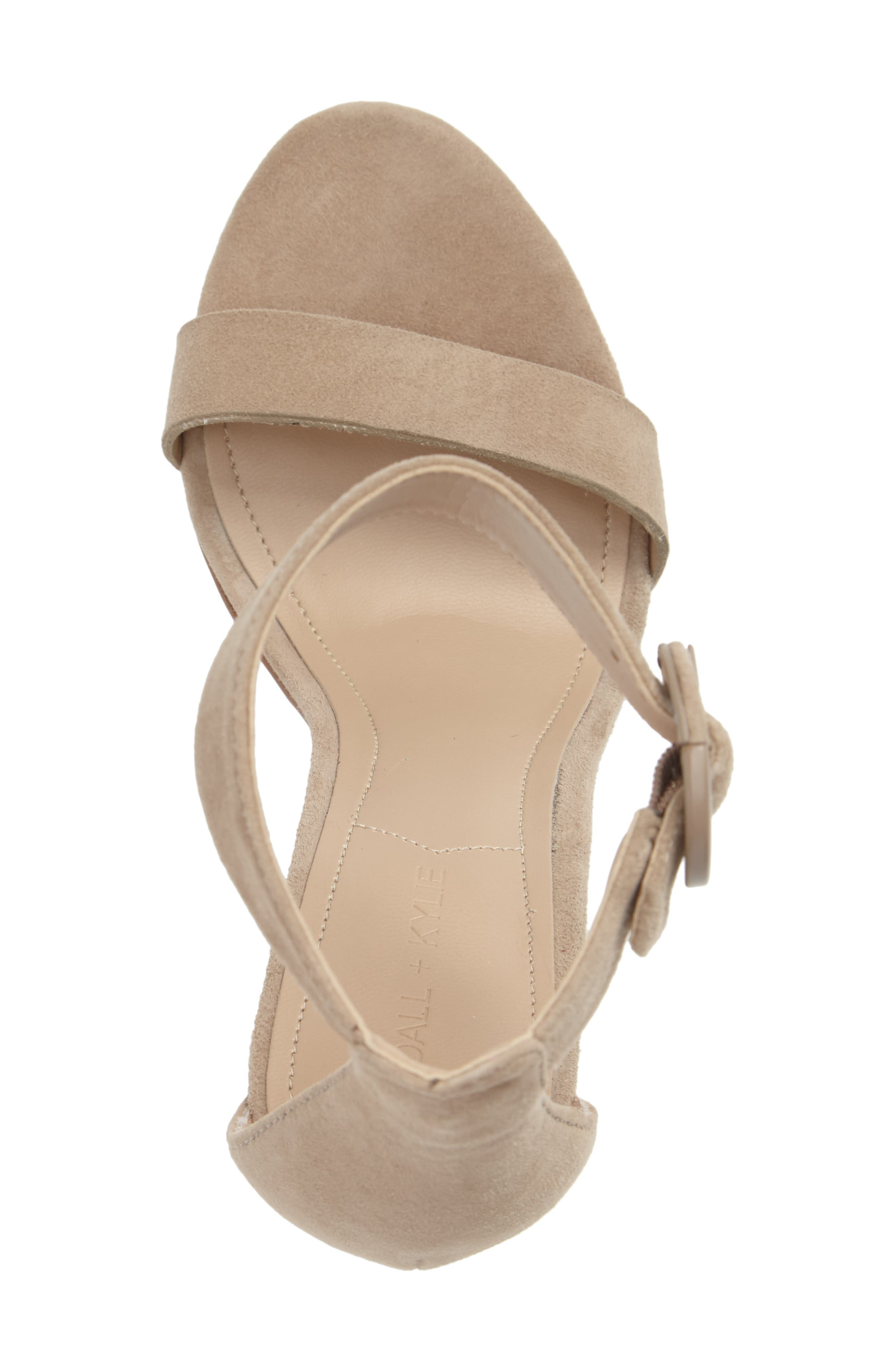 Giselle Strappy Sandal,                             Alternate thumbnail 3, color,                             Sughero Suede
