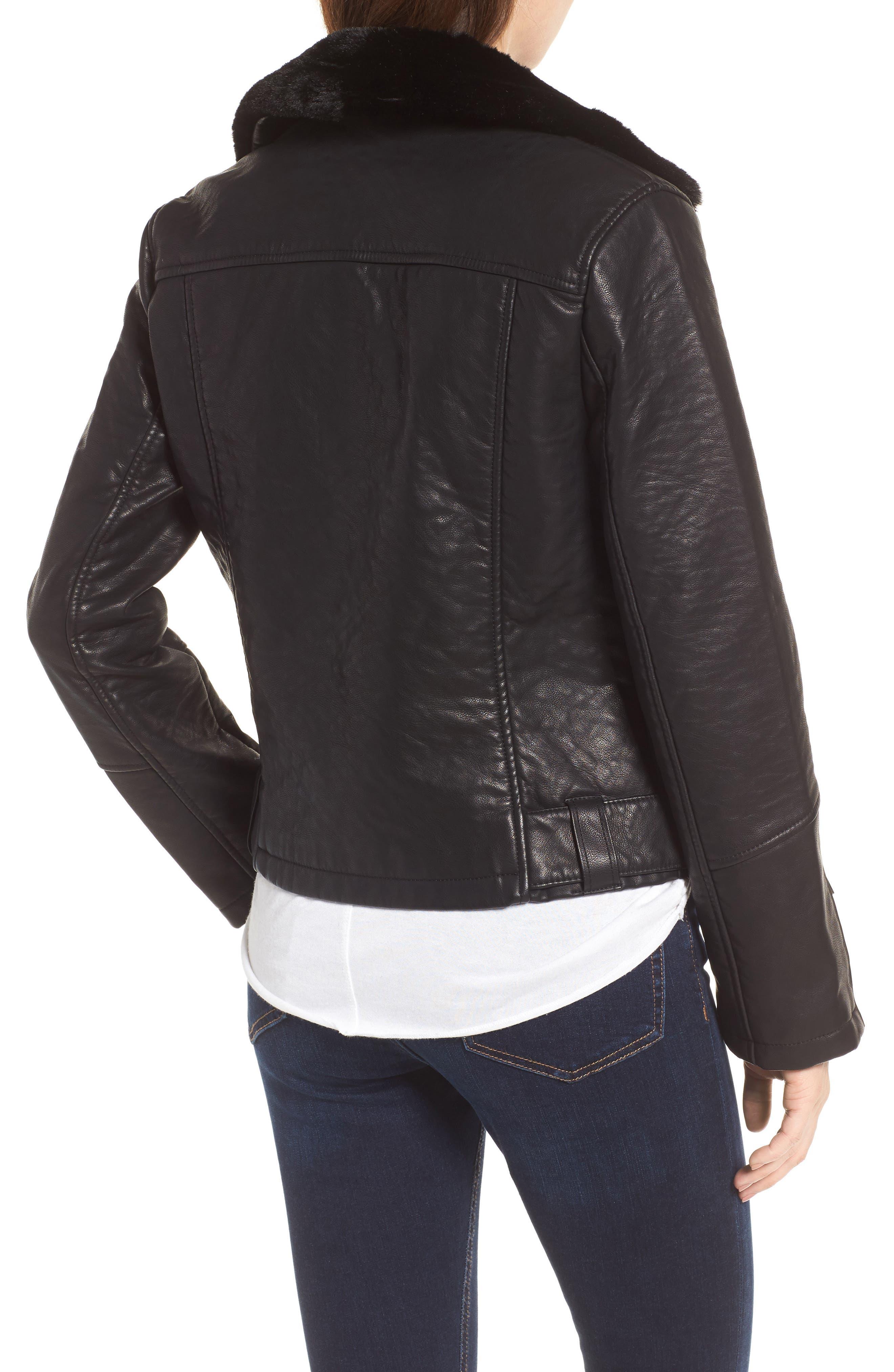 Alternate Image 3  - Topshop Vardy Faux Leather Biker Jacket