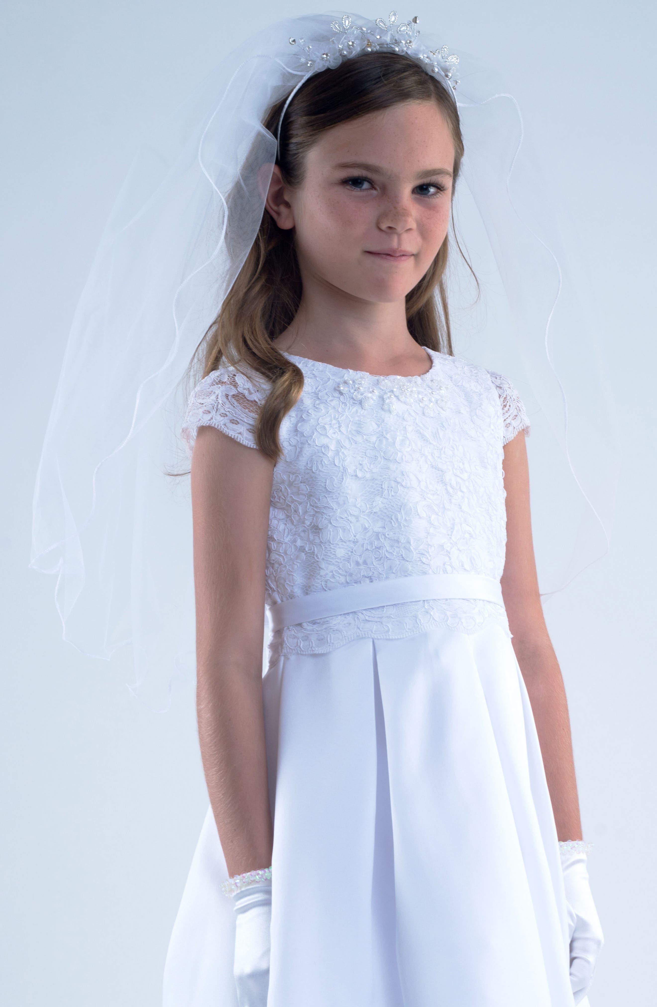 Alternate Image 1 Selected - Us Angels Tiara with Veil