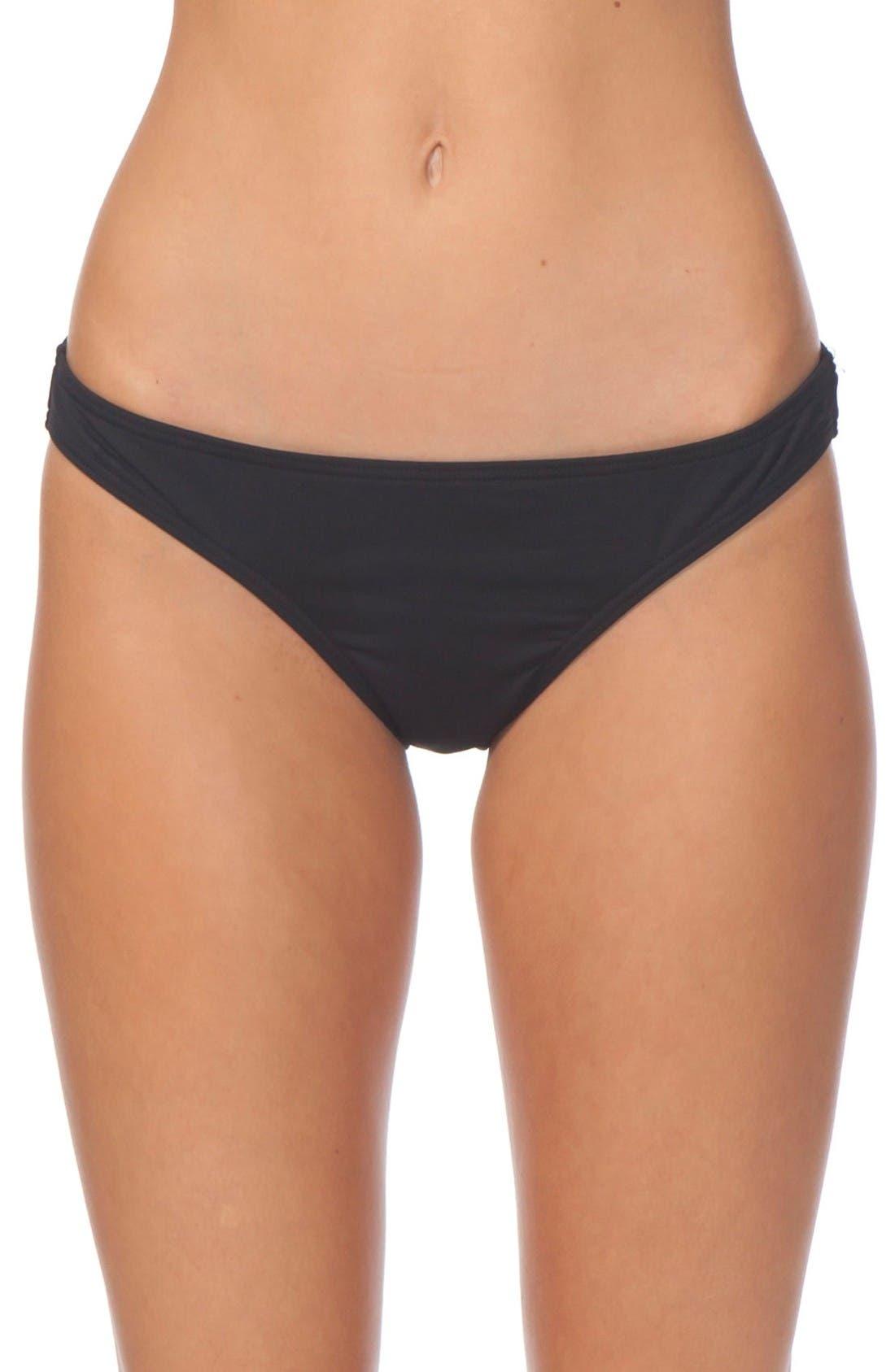 Classic Surf Bikini Bottoms,                         Main,                         color, Black