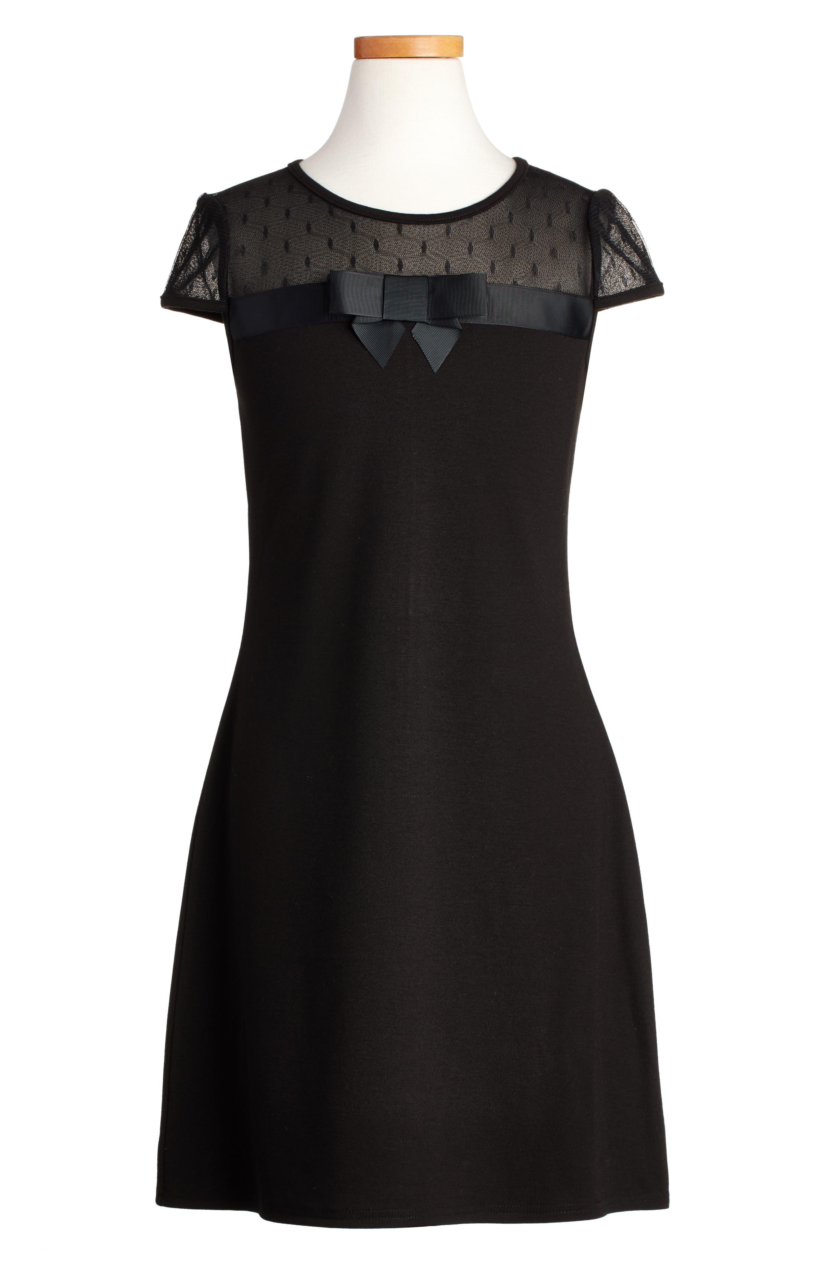 Empire Sheath Dress,                             Main thumbnail 1, color,                             Black