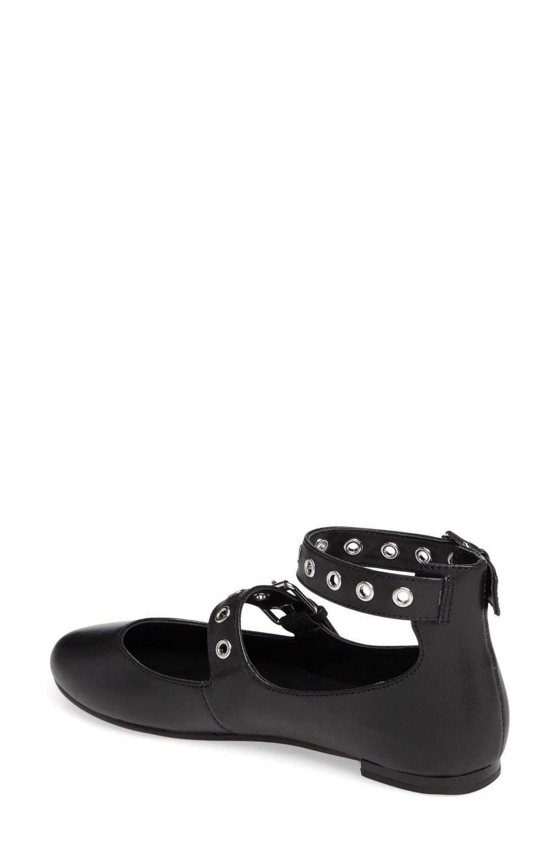 Alternate Image 2  - Rebecca Minkoff Rachel Buckle Strap Flat (Women)