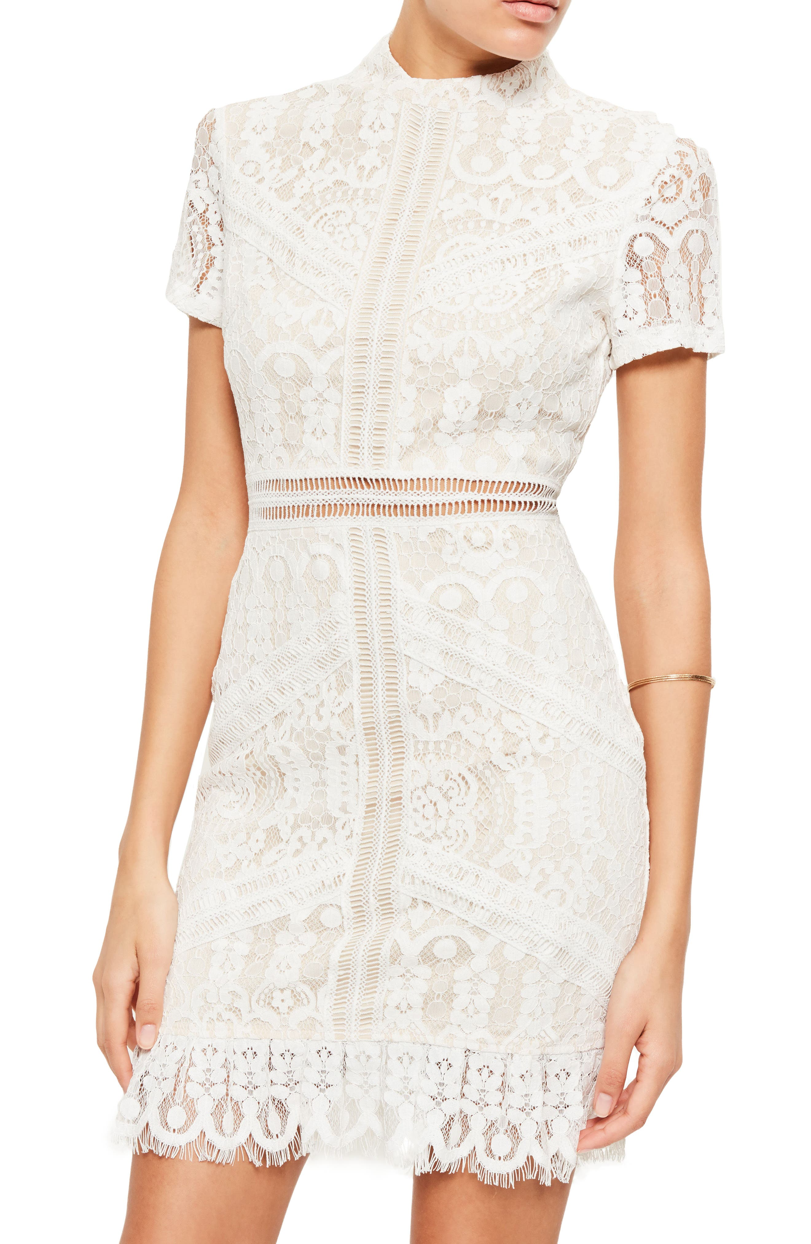 Alternate Image 3  - Missguided Ladder Stitch Lace Dress