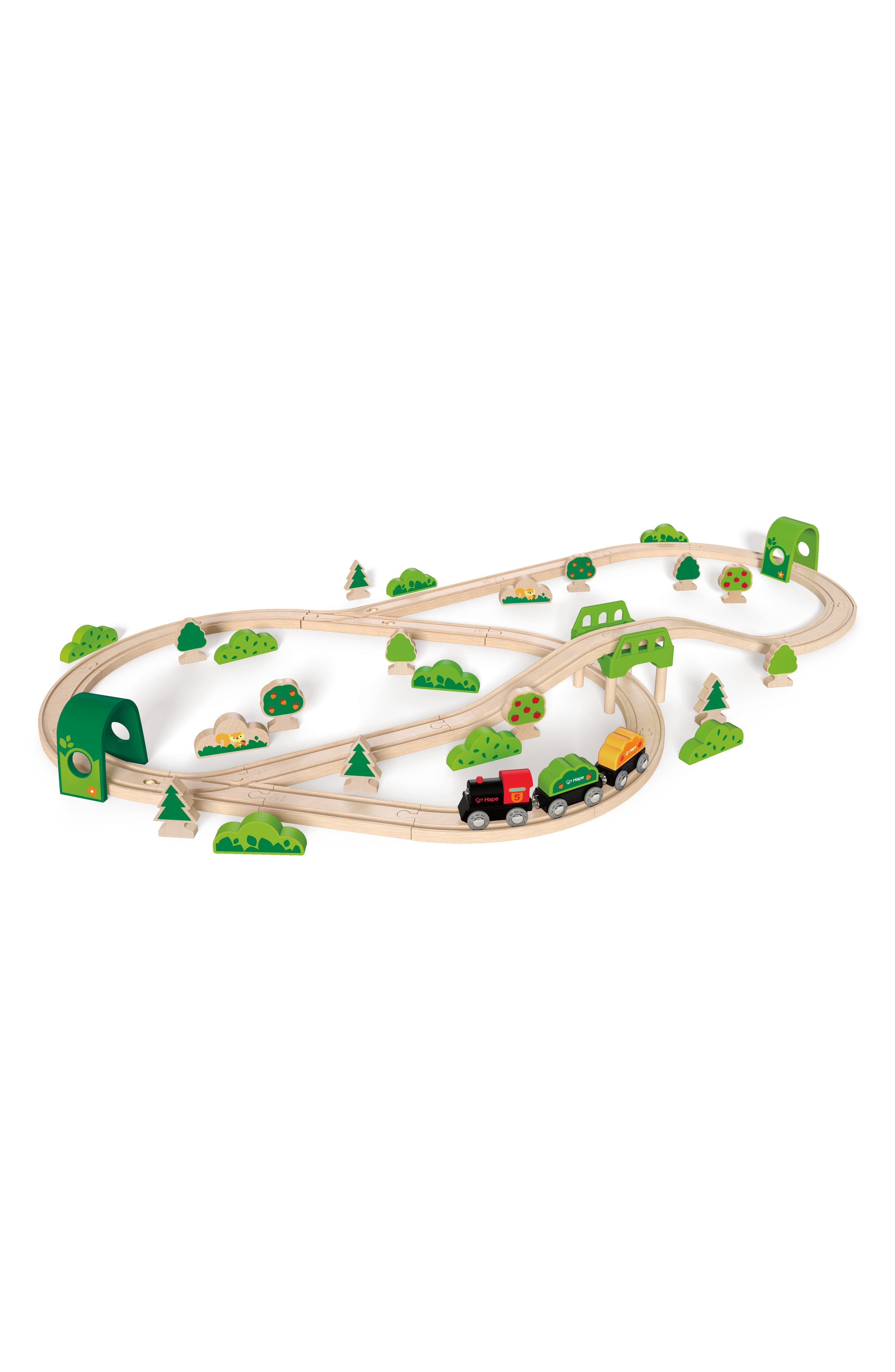 Forest Railway Wooden Train Set,                         Main,                         color, Multi