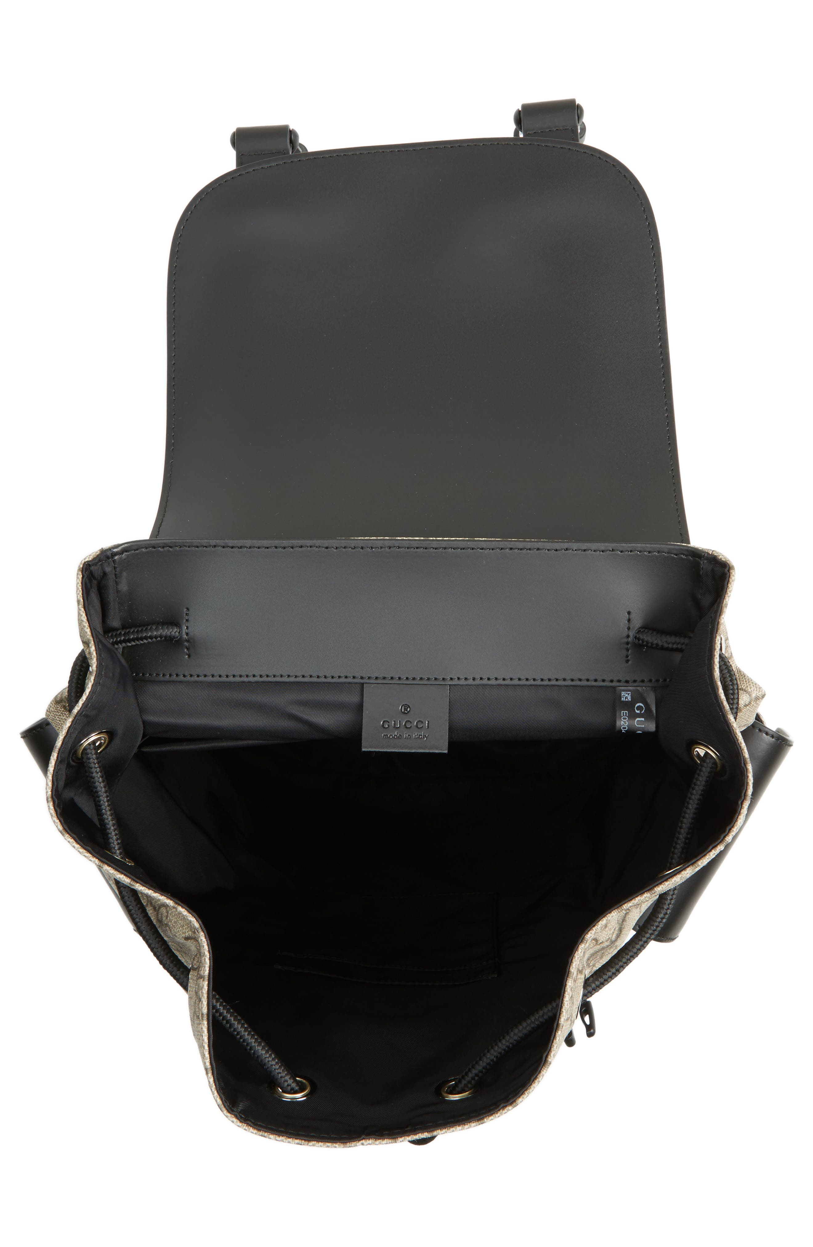 Alternate Image 4  - Gucci Eden Flap Top Canvas Backpack