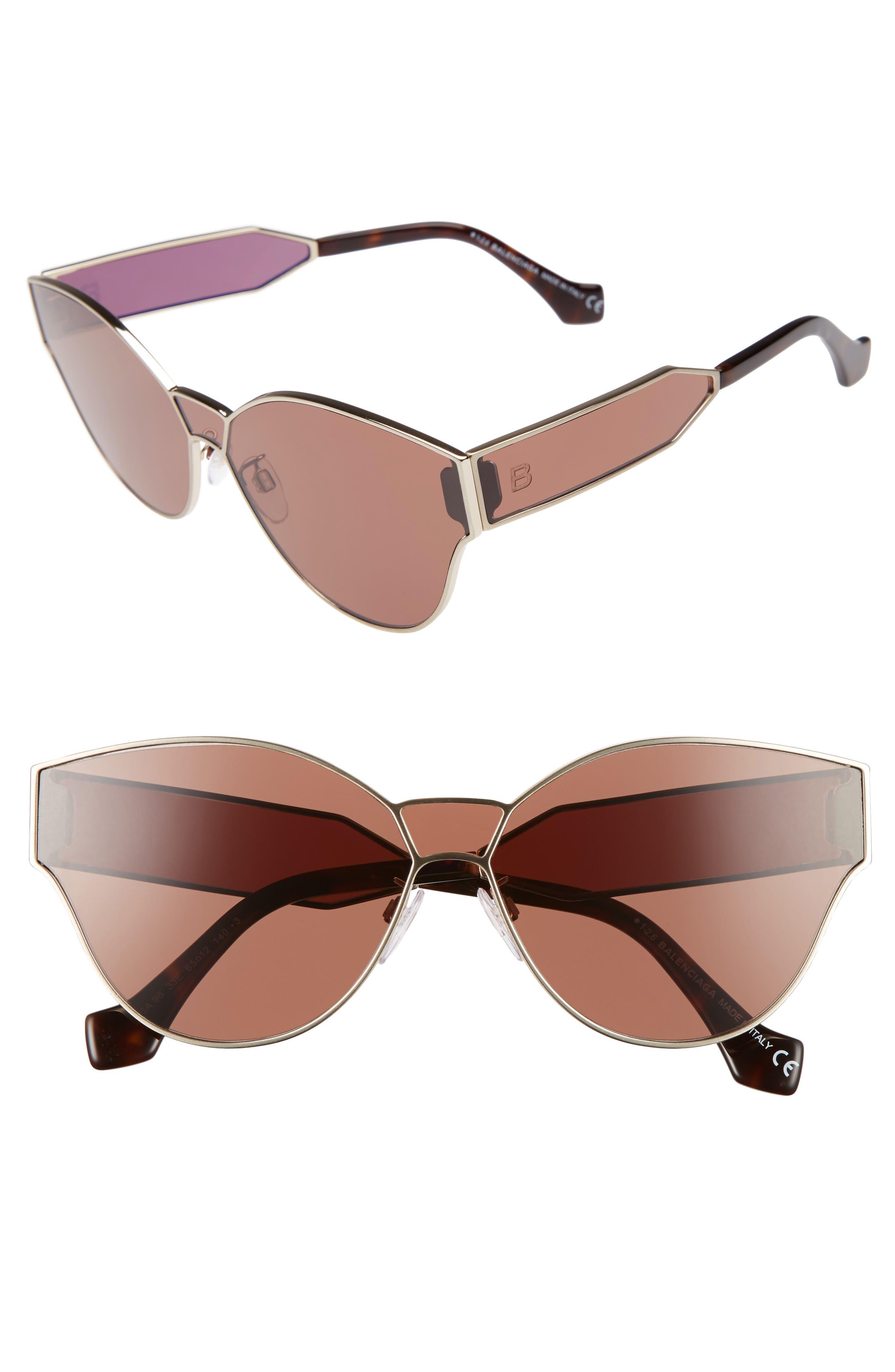 Balenciaga 65mm Sunglasses