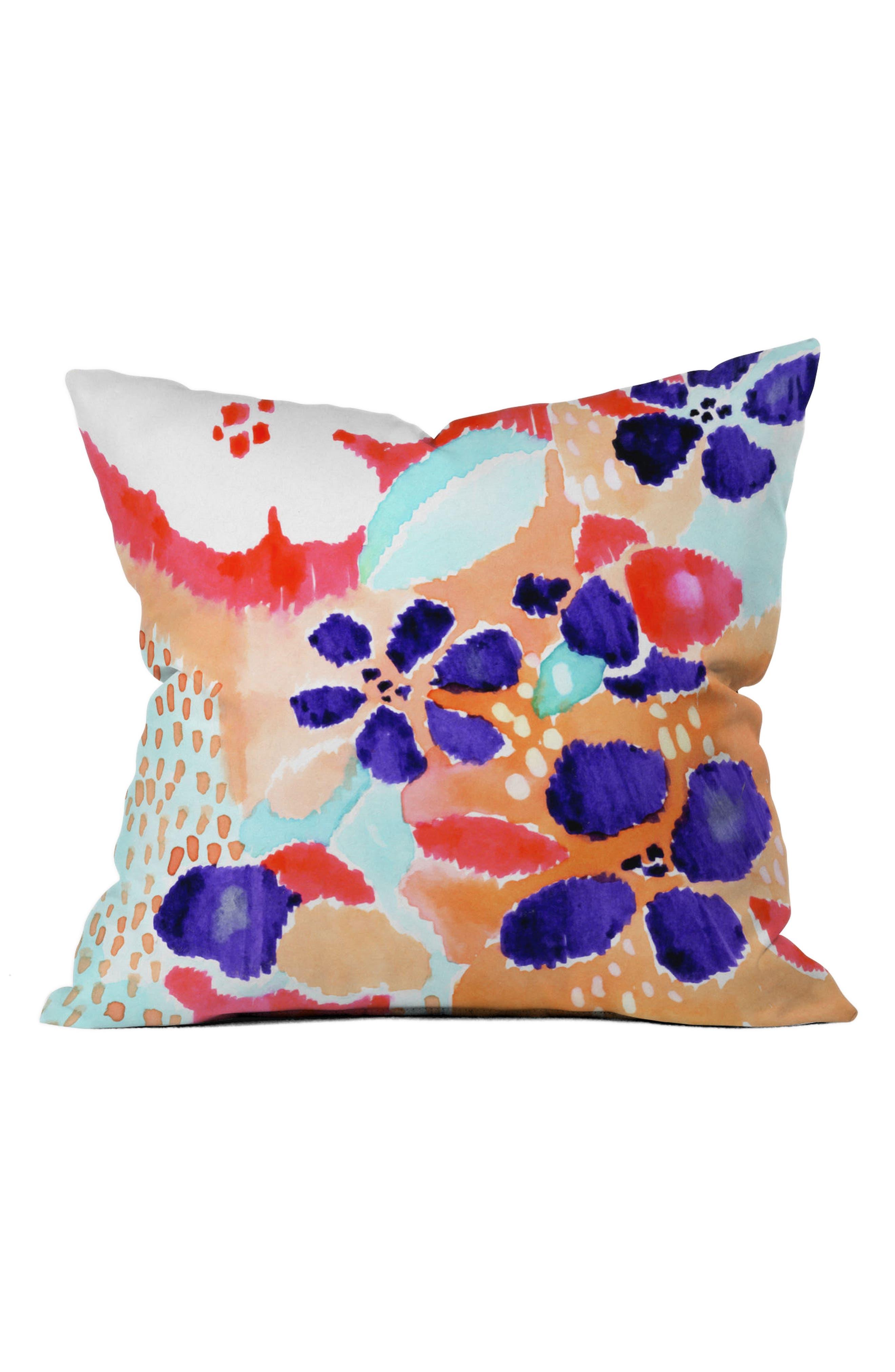 Floral Pillow,                         Main,                         color, Blue/ Multi