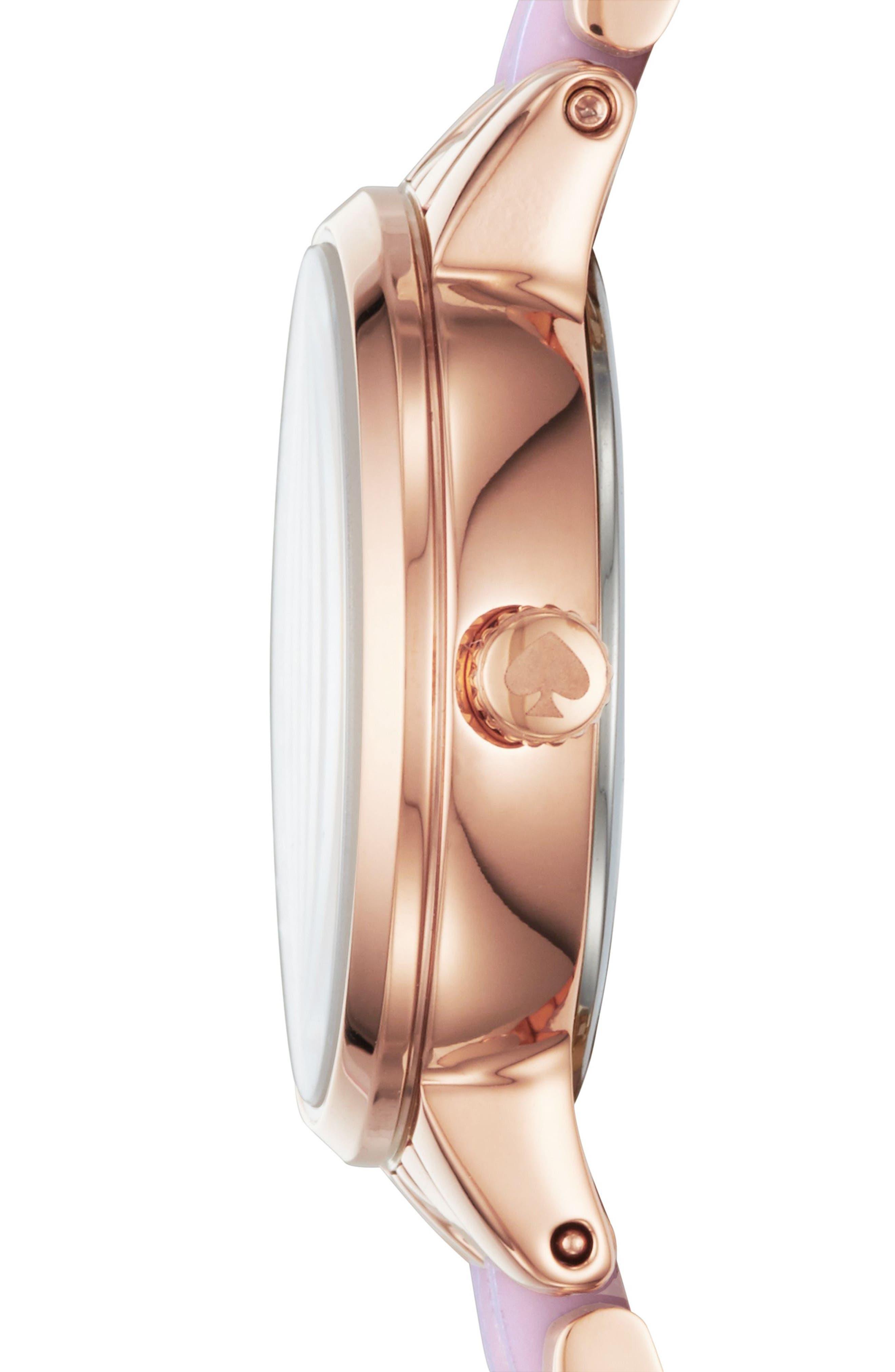 monterey crystal dial bracelet watch, 24mm,                             Alternate thumbnail 2, color,                             Blush/ Pink/ Rose Gold/ Mop