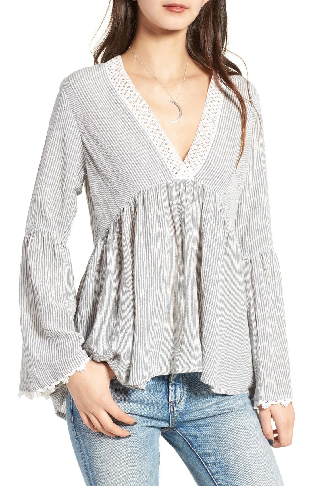 Main Image - Angie Peasant Blouse
