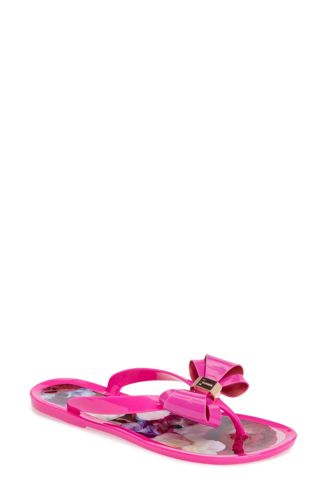 Alternate Image 1 Selected - Ted Baker London Rueday Bow Flip Flop (Women)