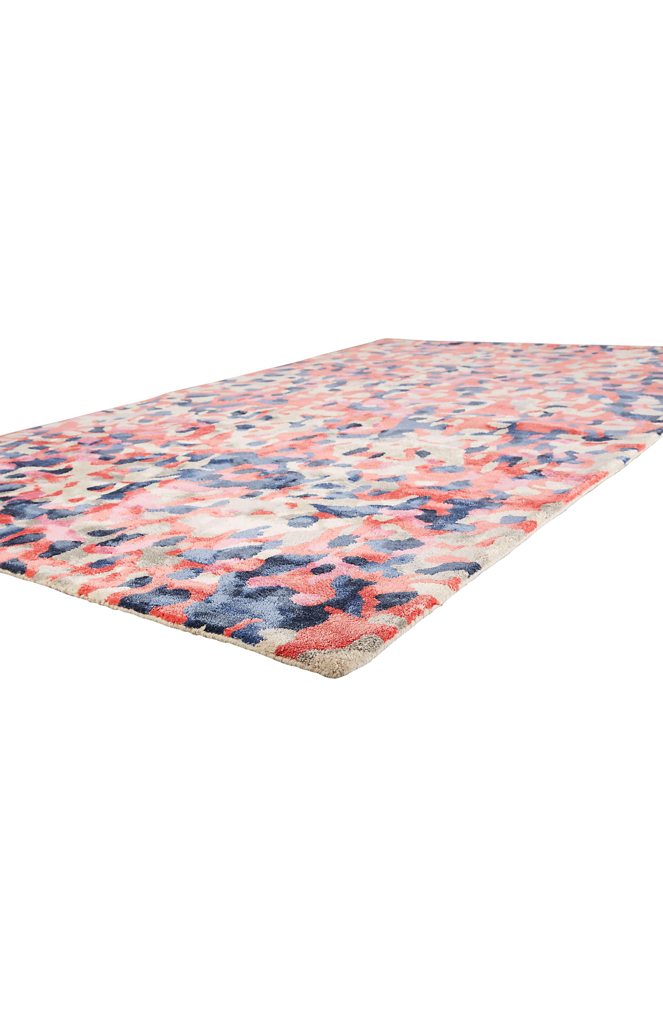splatter paint rug,                             Alternate thumbnail 3, color,                             Pink/ Multi