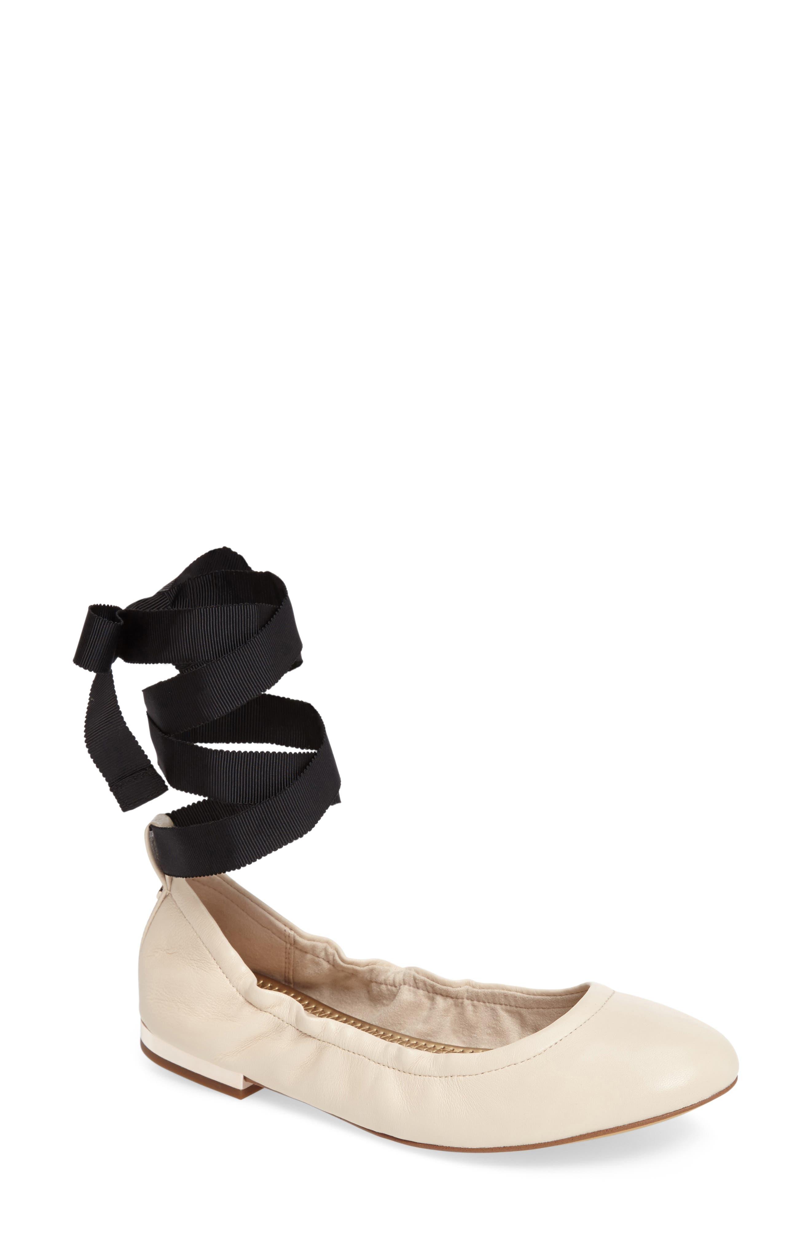 Alternate Image 1 Selected - Sam Edelman Fallon Wraparound Tie Flat (Women)