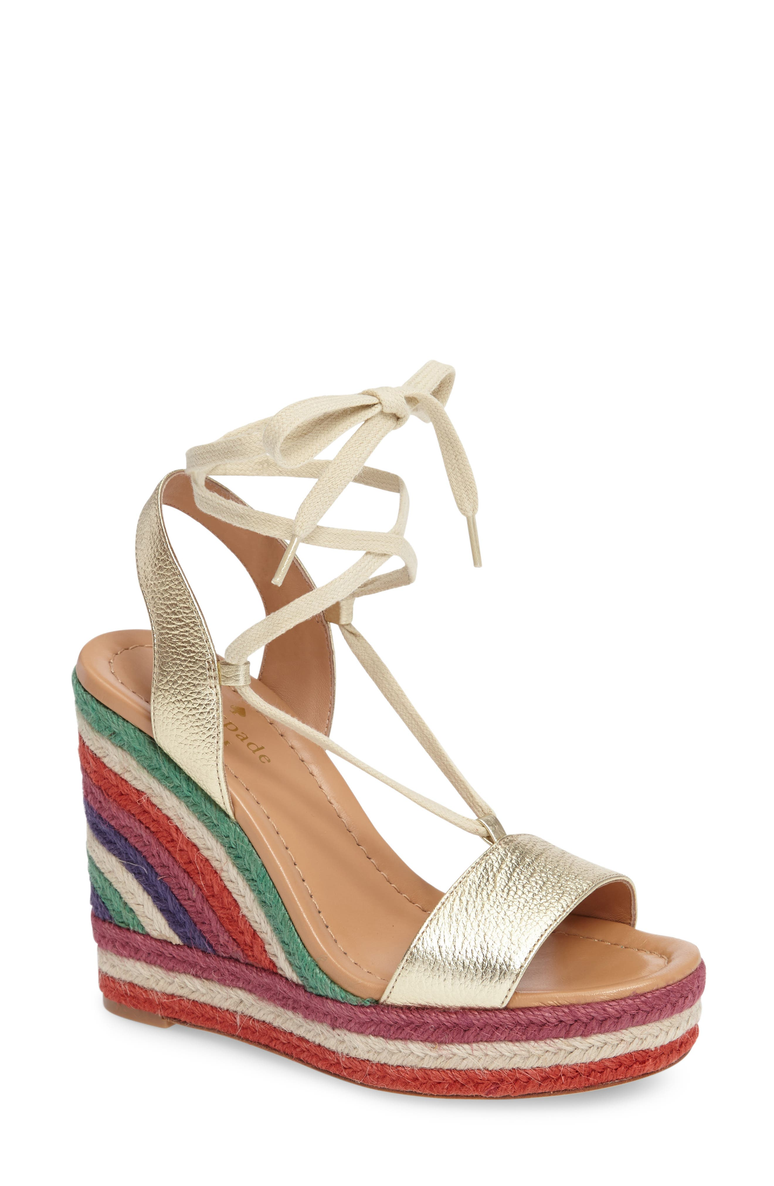 Alternate Image 1 Selected - kate spade new york daisy too platform wedge espadrille (Women)