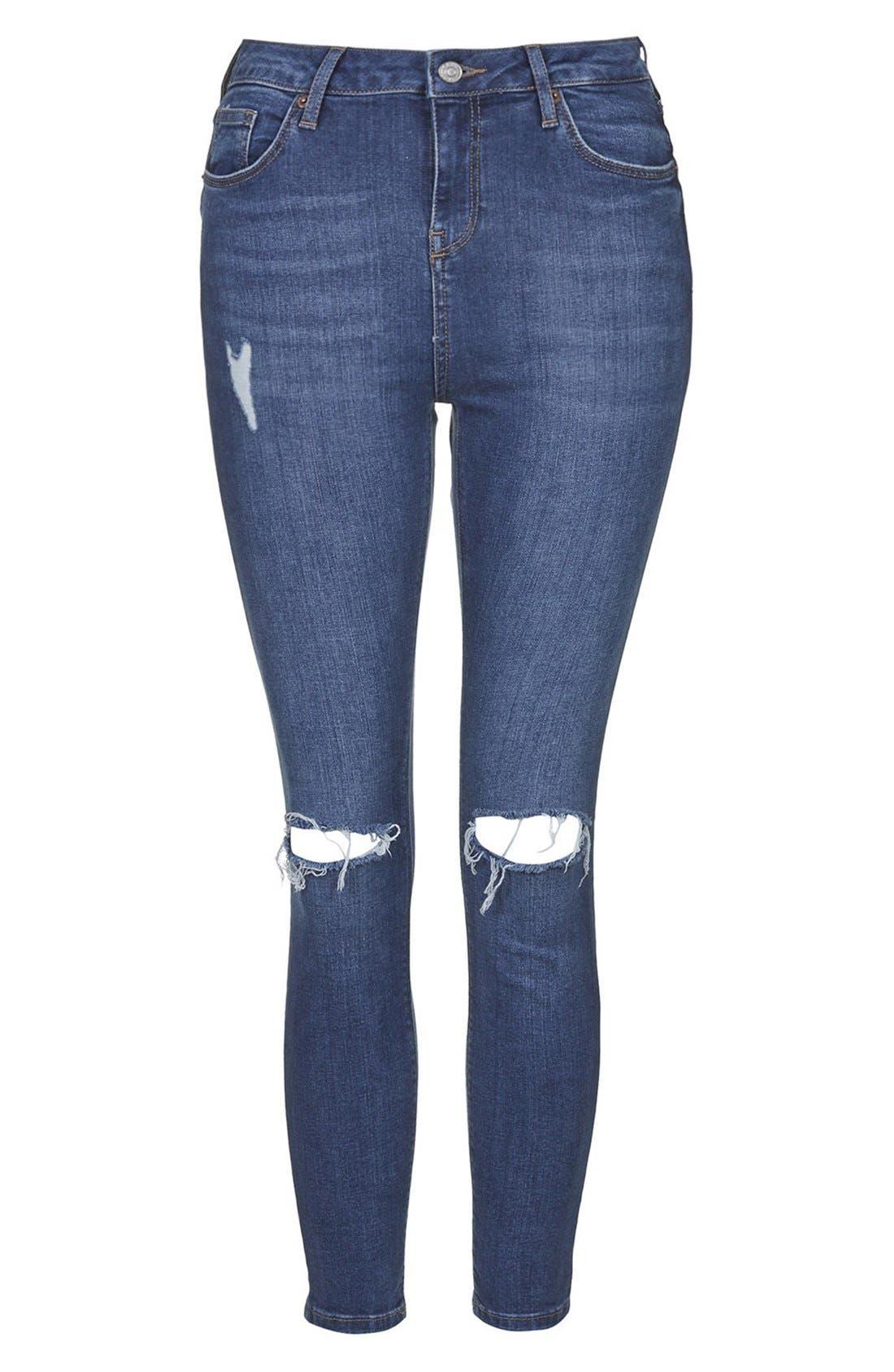 Alternate Image 3  - Topshop Moto 'Jamie' High Rise Skinny Jeans (Petite)