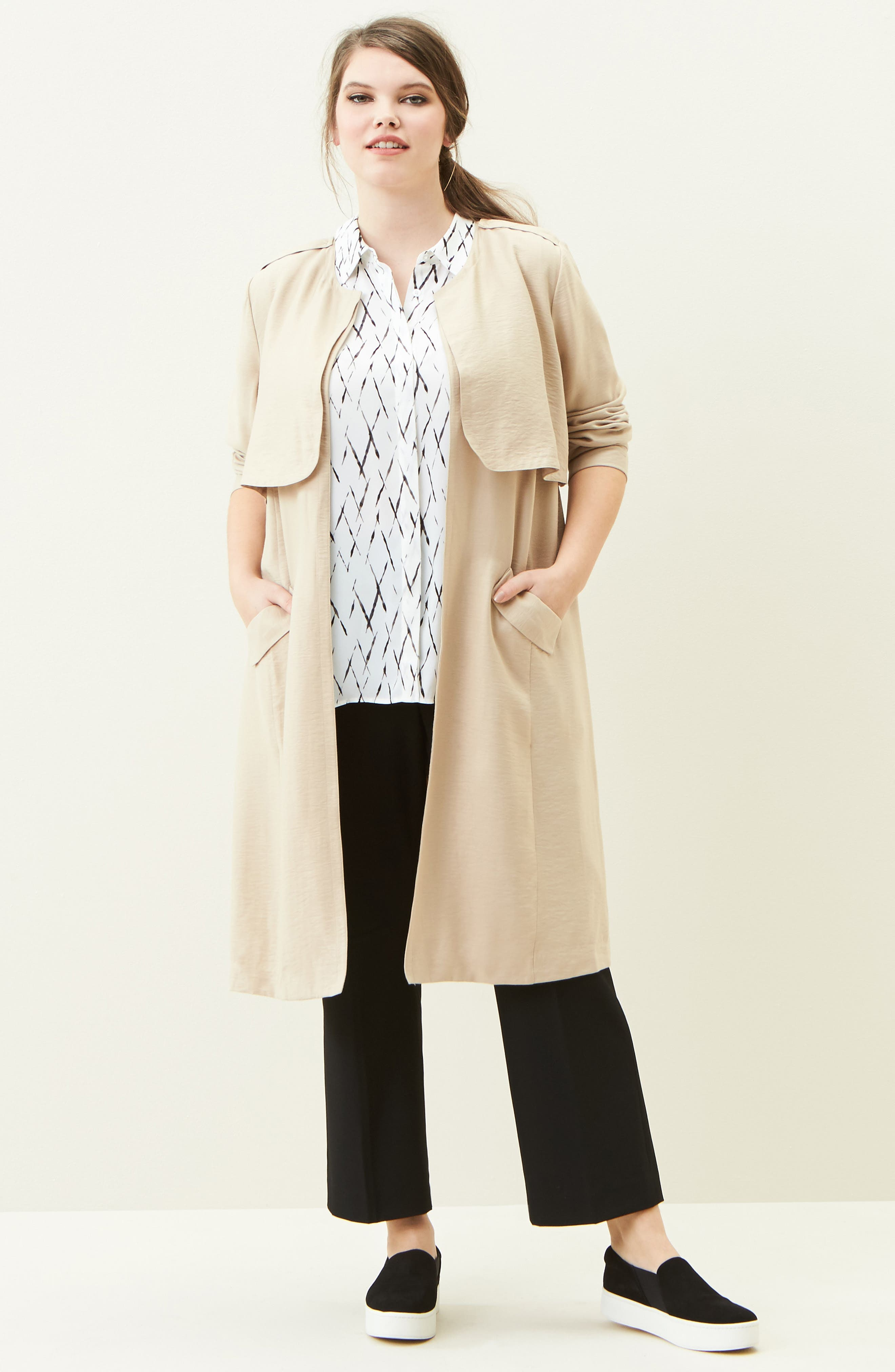 Sejour Jacket, Tunic & Pants Outfit with Accessories (Plus Size)