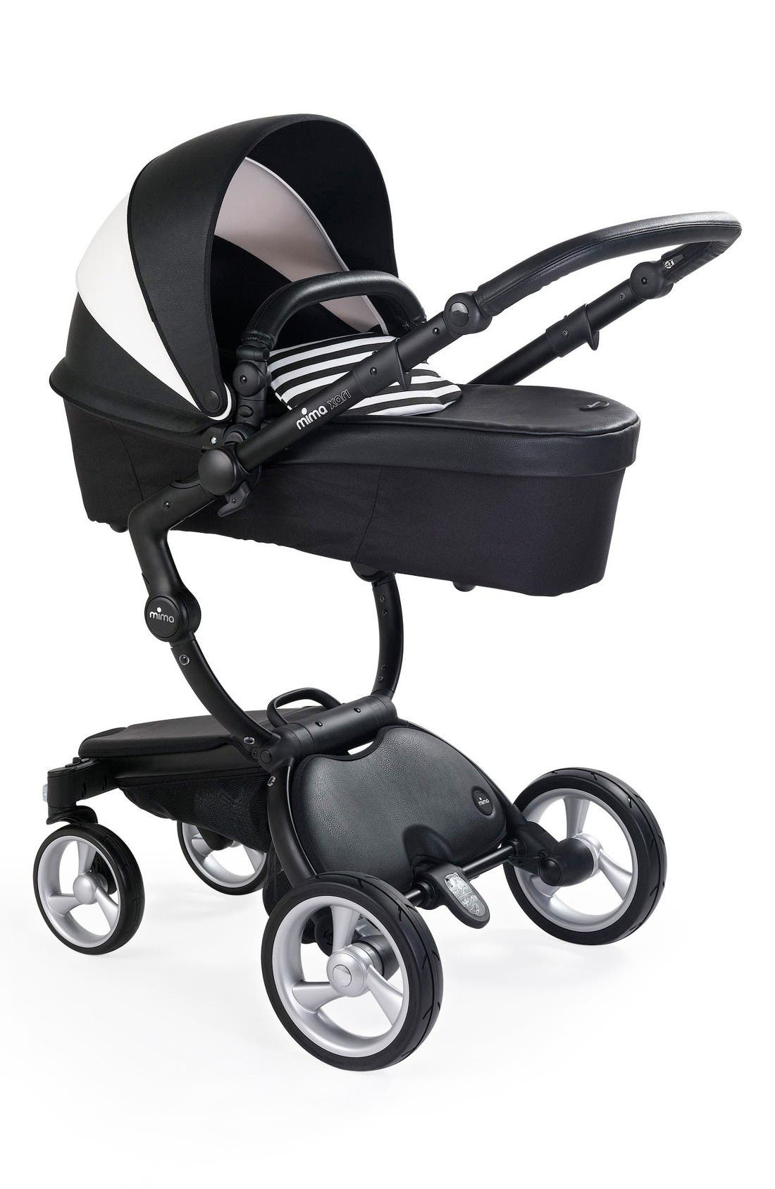 Alternate Image 3  - Mima Xari Black Chassis Stroller with Reversible Reclining Seat & Carrycot
