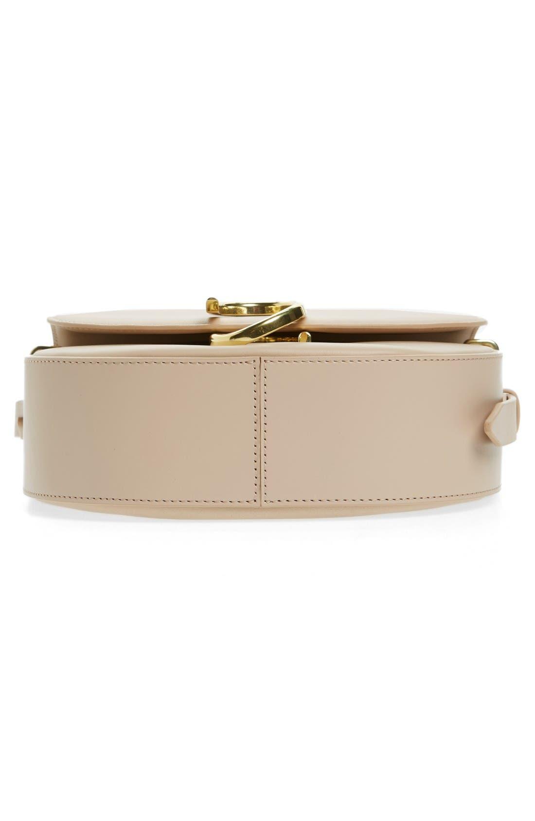 Alix Leather Saddle Bag,                             Alternate thumbnail 5, color,                             Cashew/ Gold