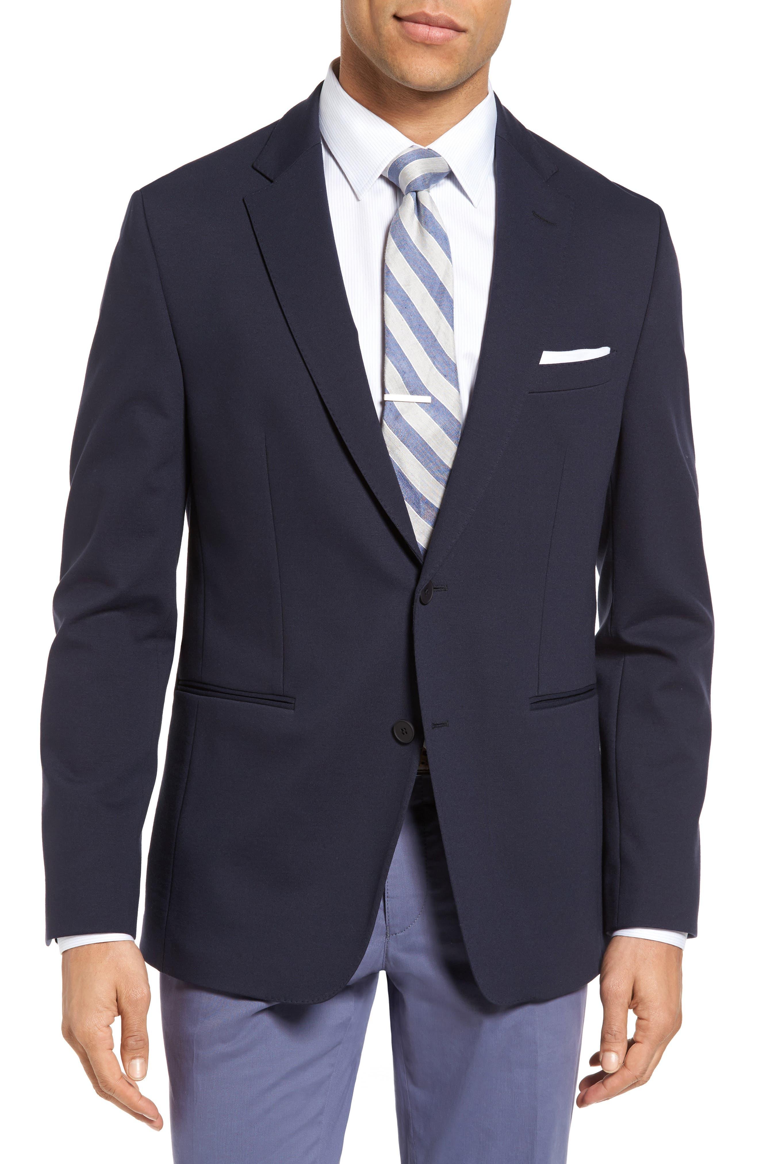 Norwin Trim Fit Stretch Blazer,                         Main,                         color, Dark Blue