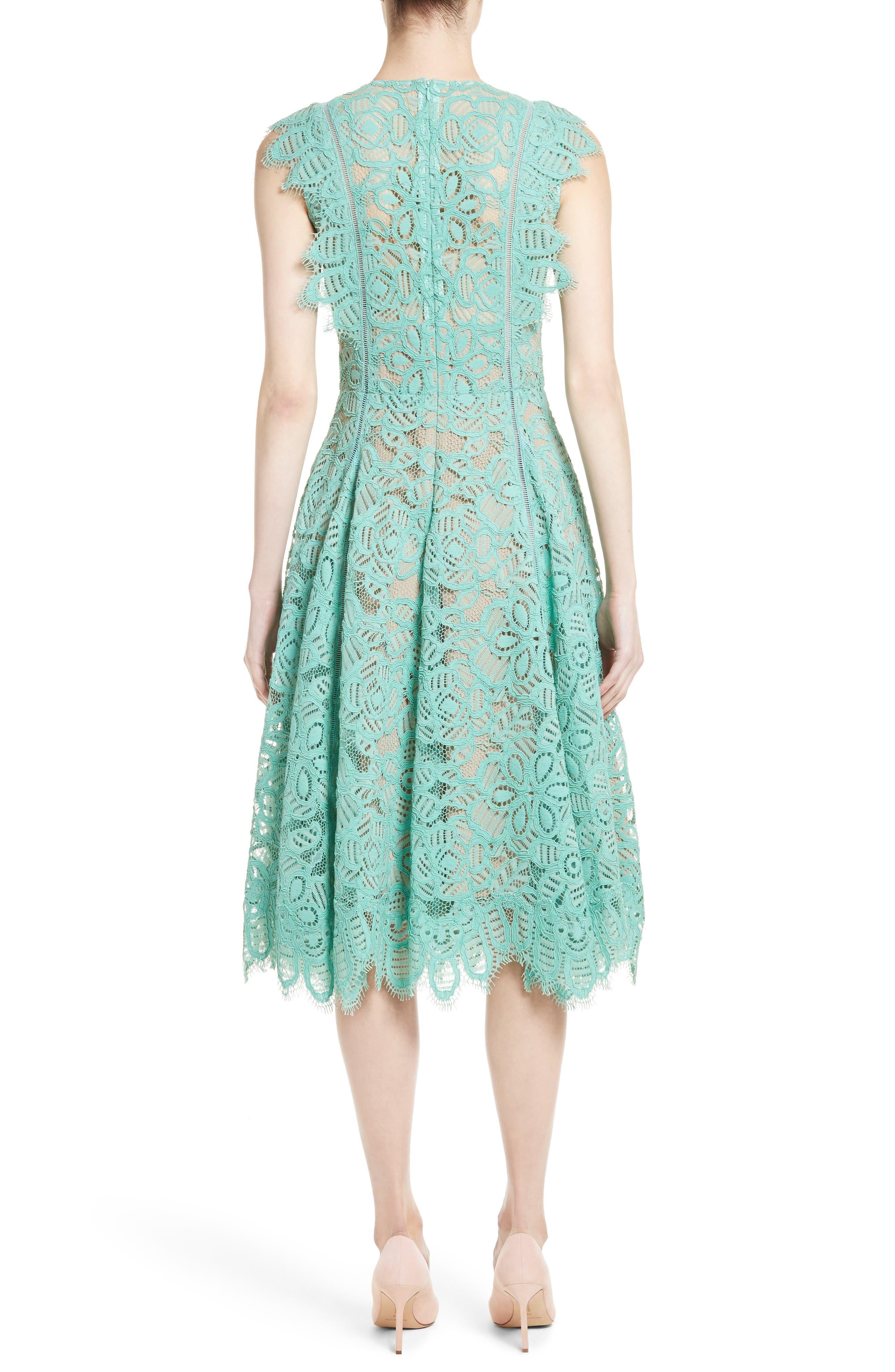 Alternate Image 2  - Lela Rose Lace Fit & Flare Dress