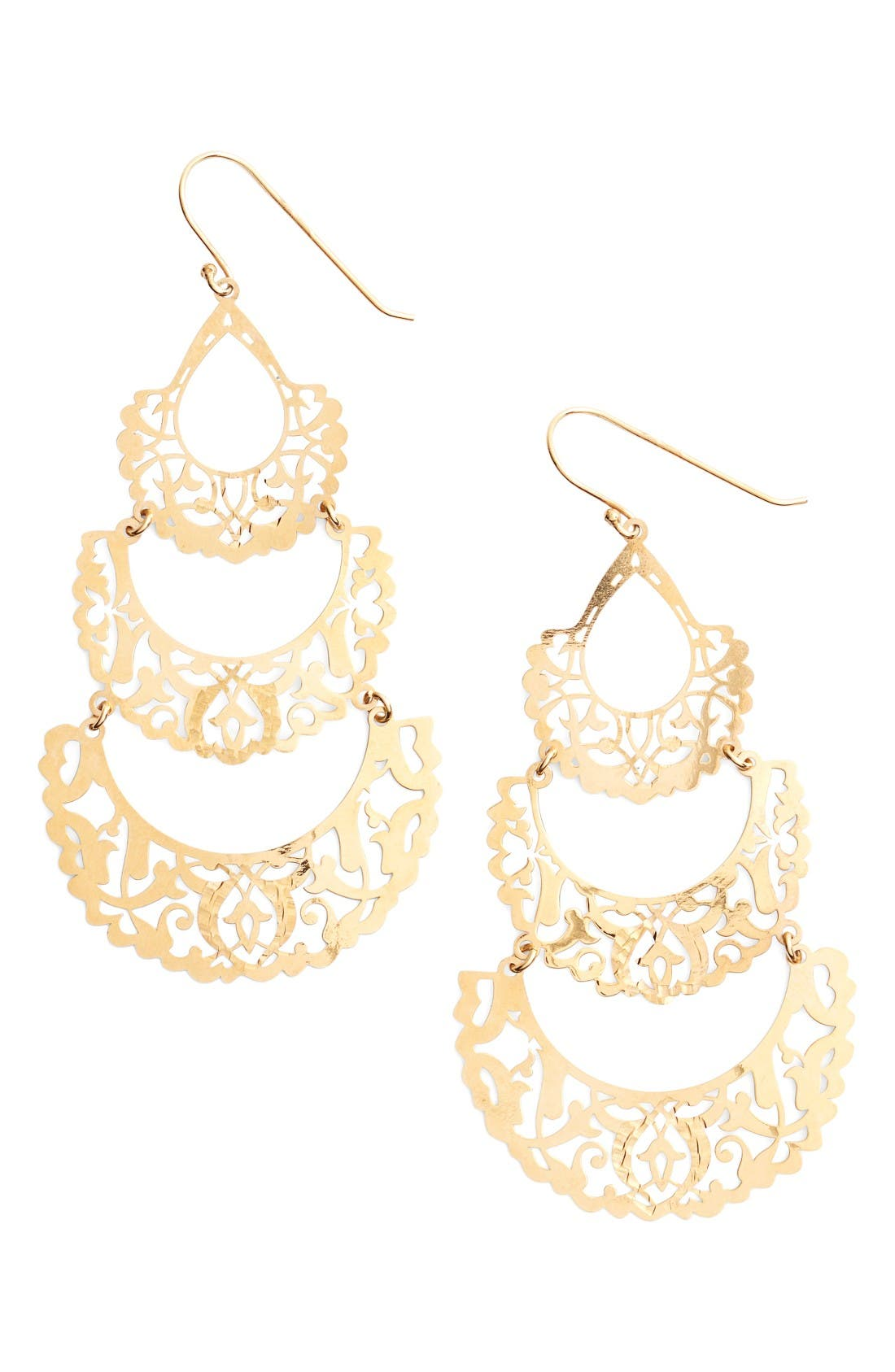 Main Image - Argento Vivo Laser Cut Drop Earrings