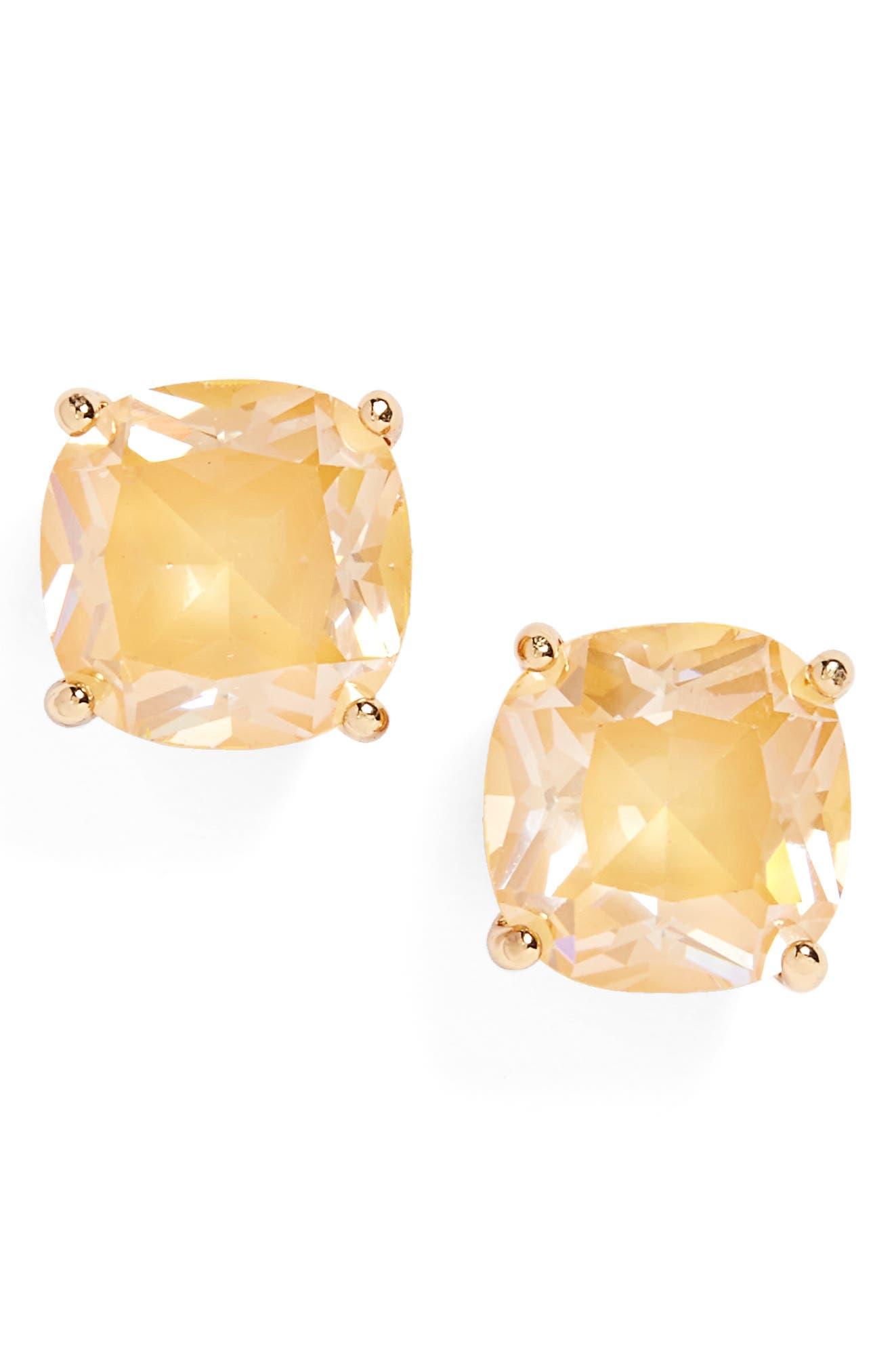mini stud earrings,                         Main,                         color, Yellow