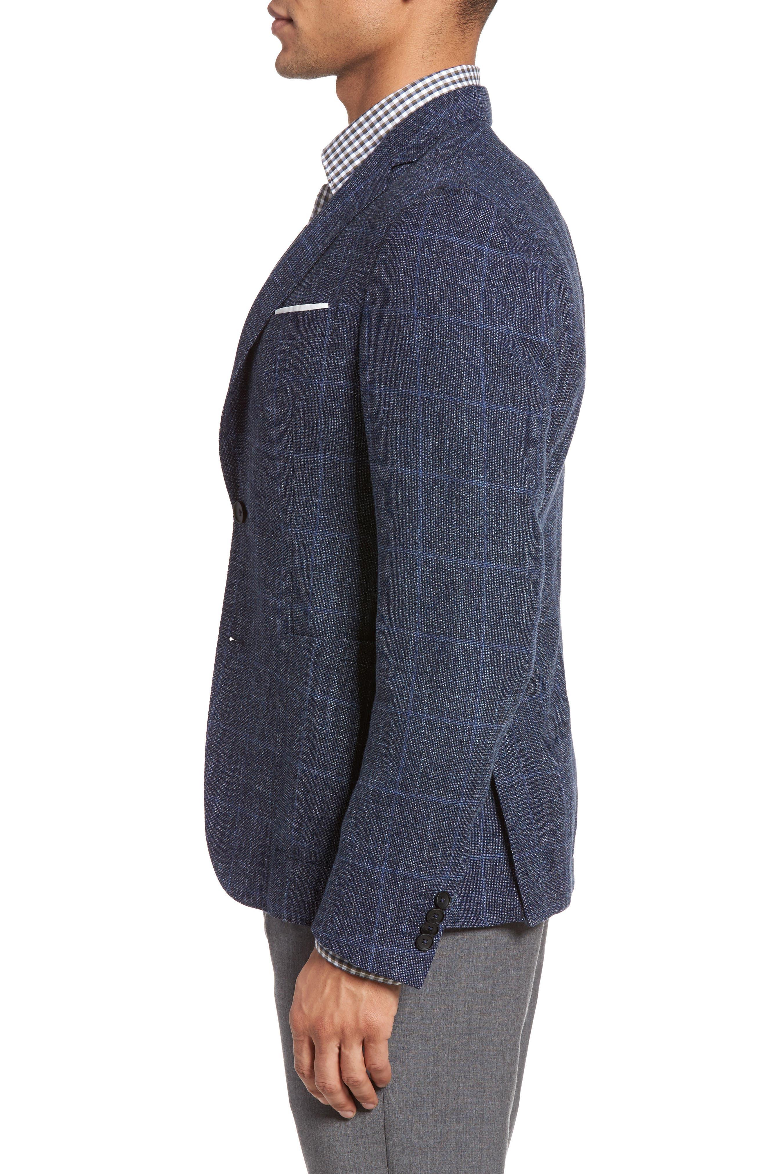 Alternate Image 3  - BOSS Nold Trim Fit Unconstructed Wool Blend Sport Coat