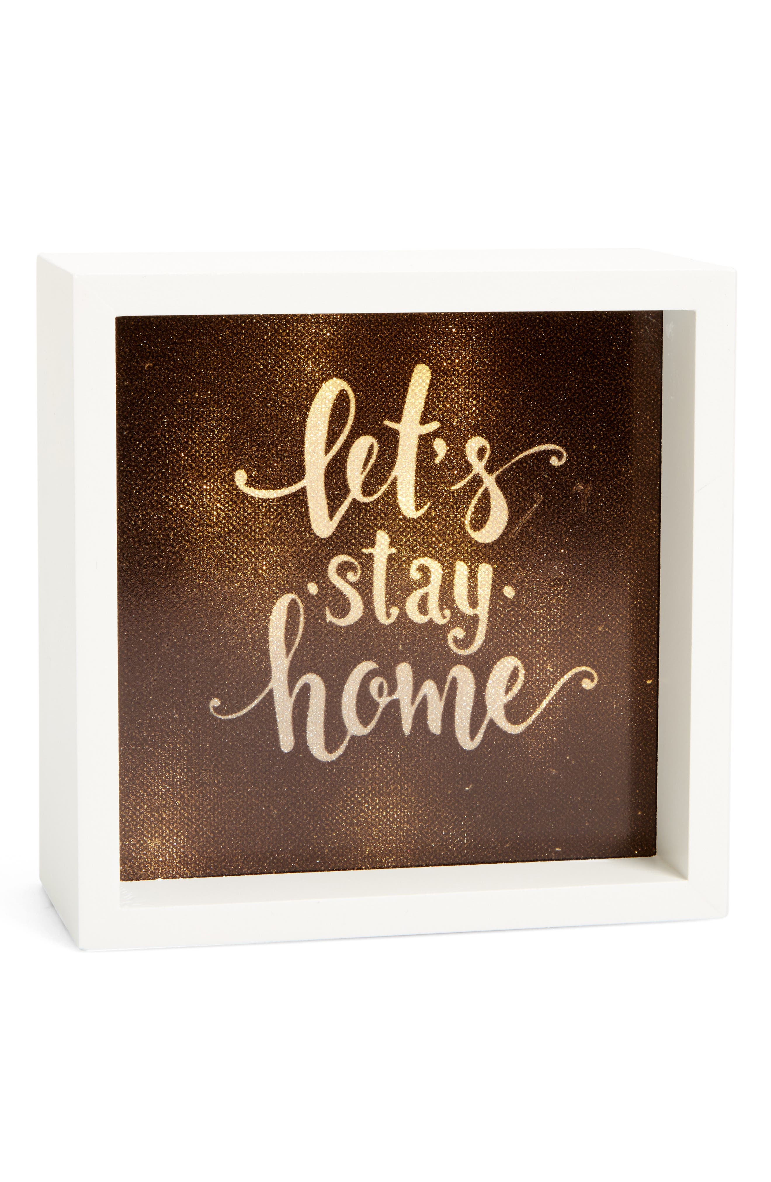 Alternate Image 1 Selected - LightBoxArts Let's Stay Home Tabletop Art
