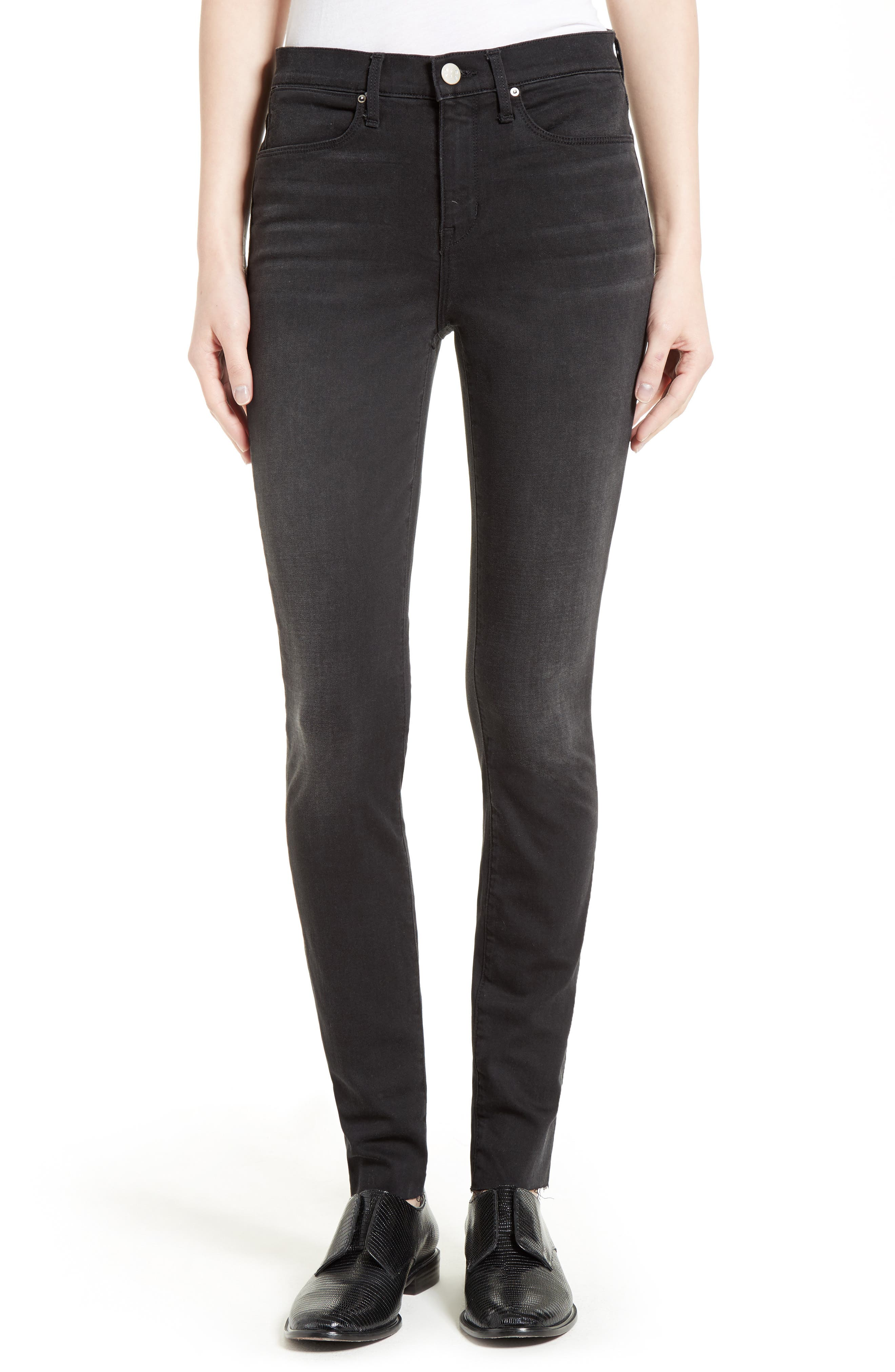 The Skinny Stretch Denim Jeans,                         Main,                         color, Faded Black