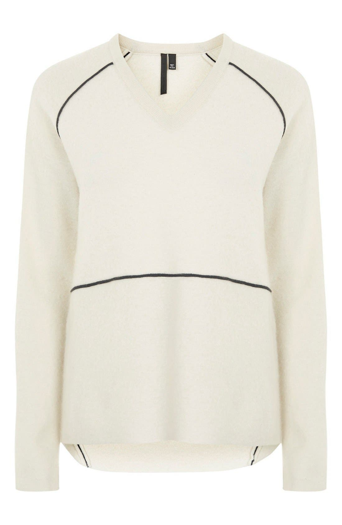Alternate Image 3  - Topshop Boutique V-Neck Merino Wool Sweater