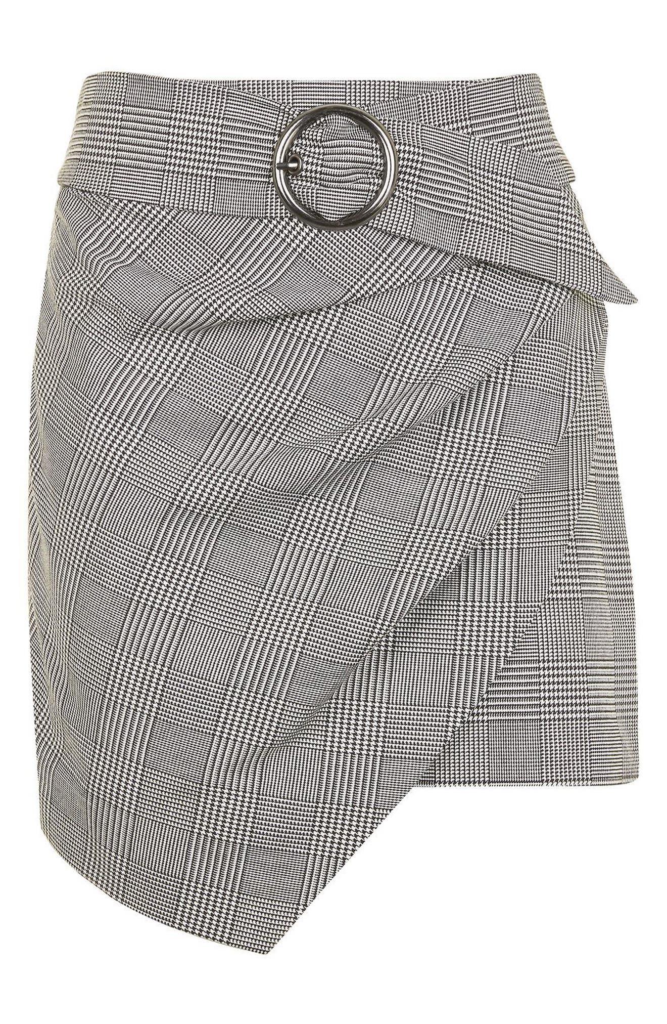 Alternate Image 4  - Topshop Belted Glen Plaid Miniskirt