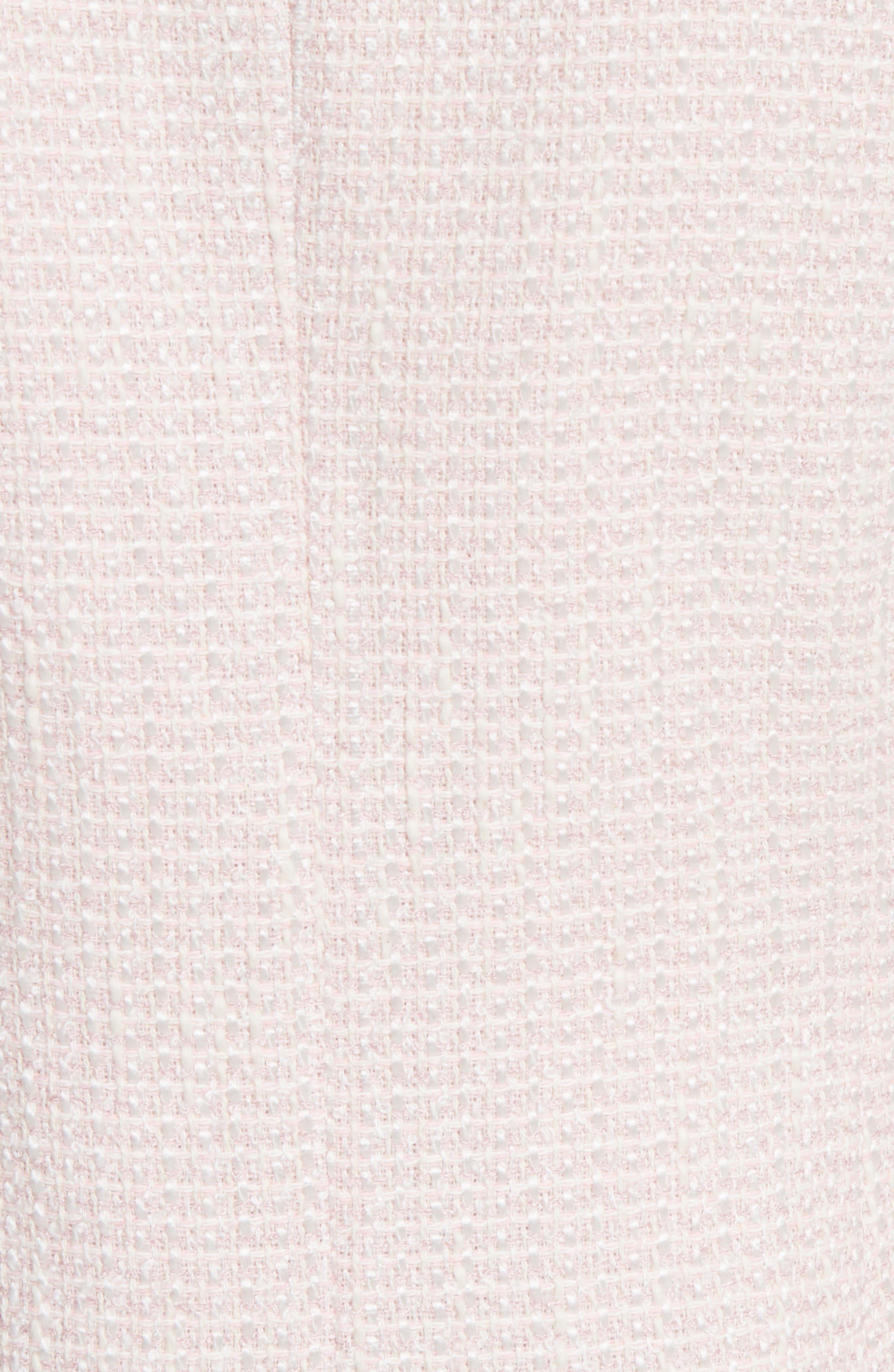 Tweed Jacket,                             Alternate thumbnail 5, color,                             Pale Pink/ Ivory