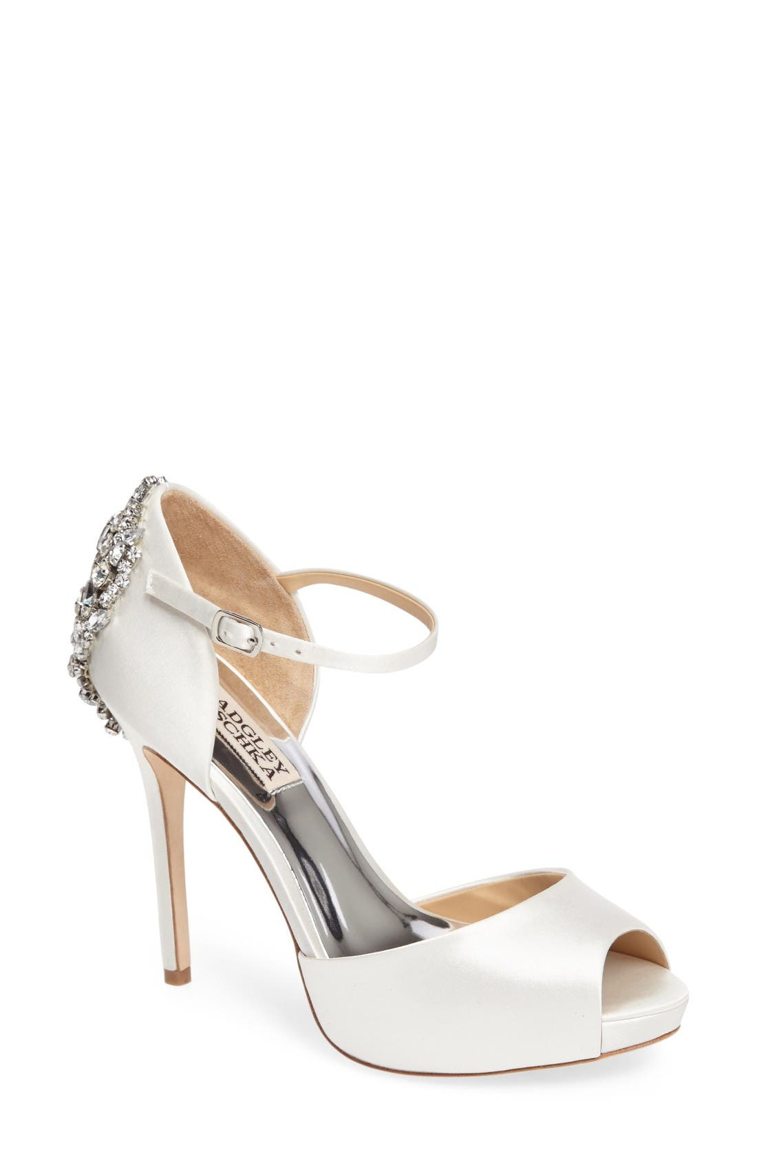 Alternate Image 1 Selected - Badgley Mischka 'Dawn' Crystal Back d'Orsay Pump (Women)