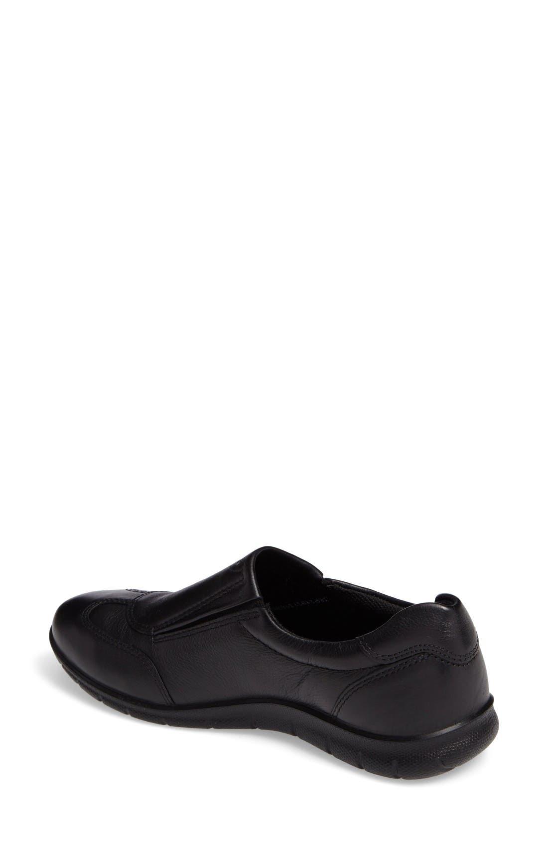 Babett II Slip-On,                             Alternate thumbnail 2, color,                             Black Leather