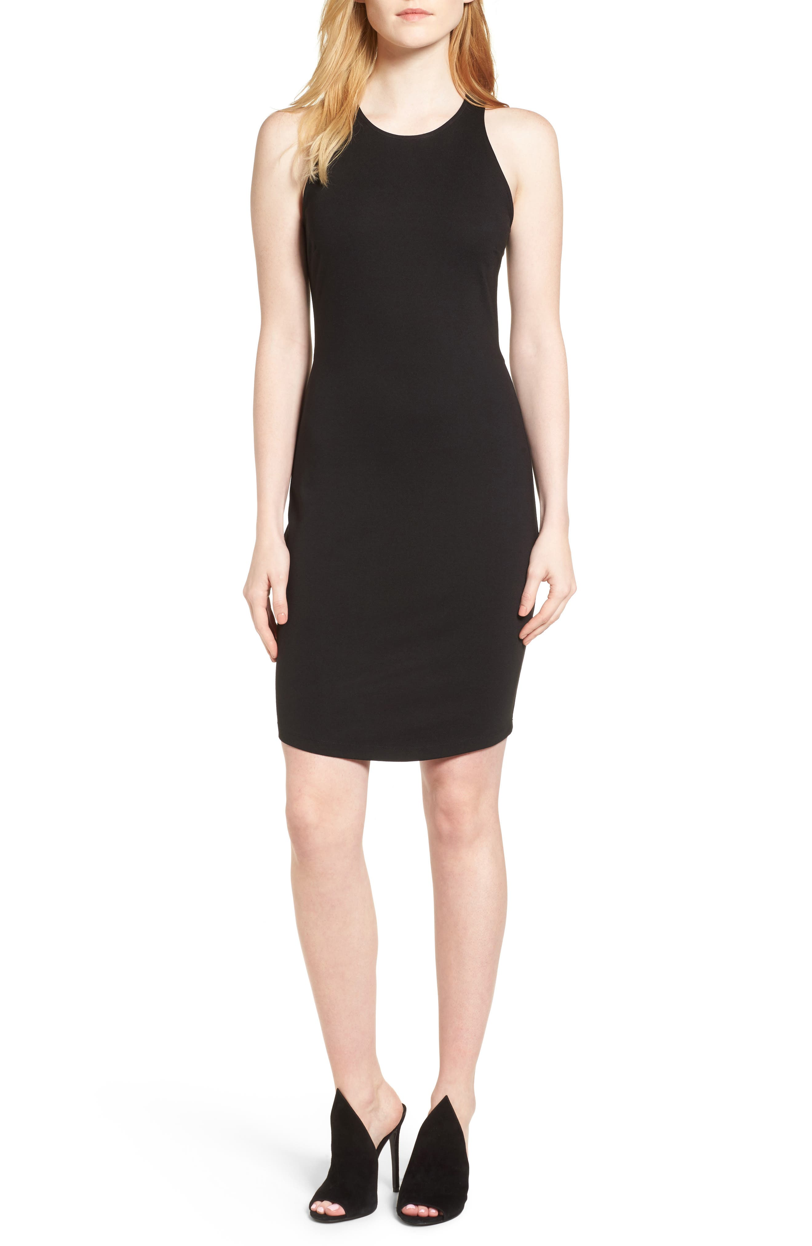 KENDALL + KYLIE Open Back Body-Con Dress