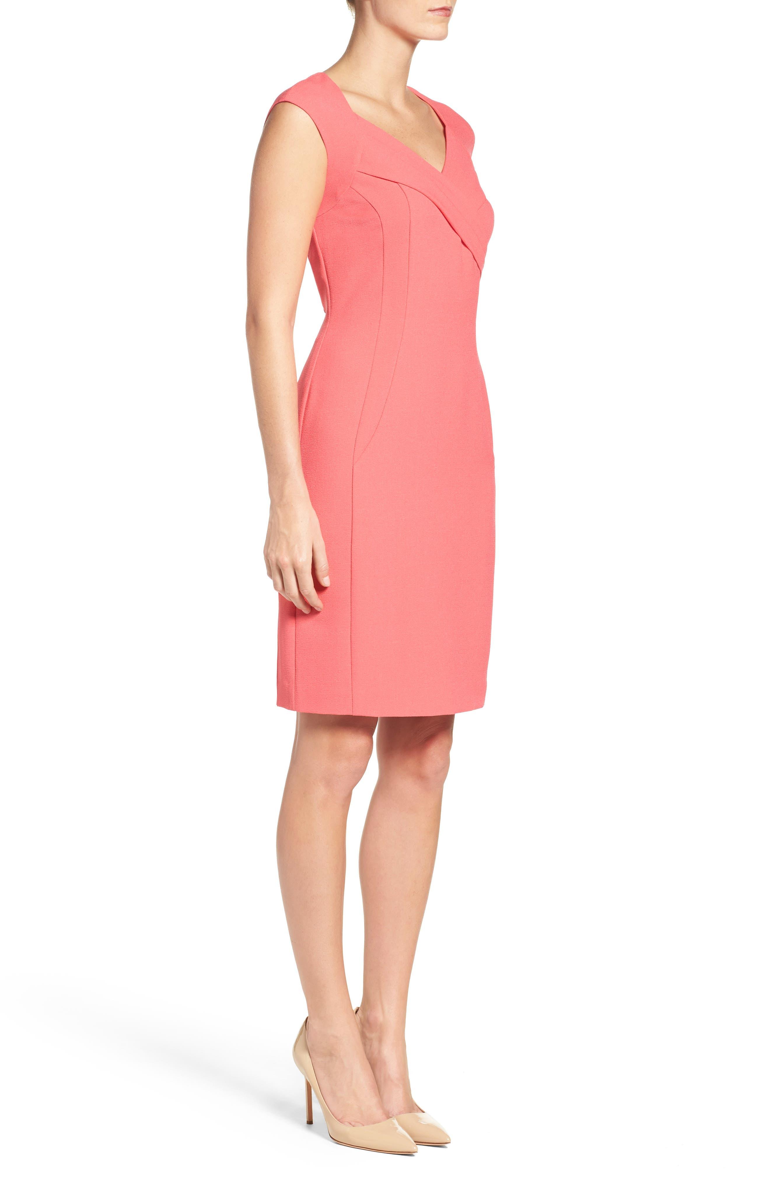 Alternate Image 2  - Ellen Tracy Crepe Sheath Dress