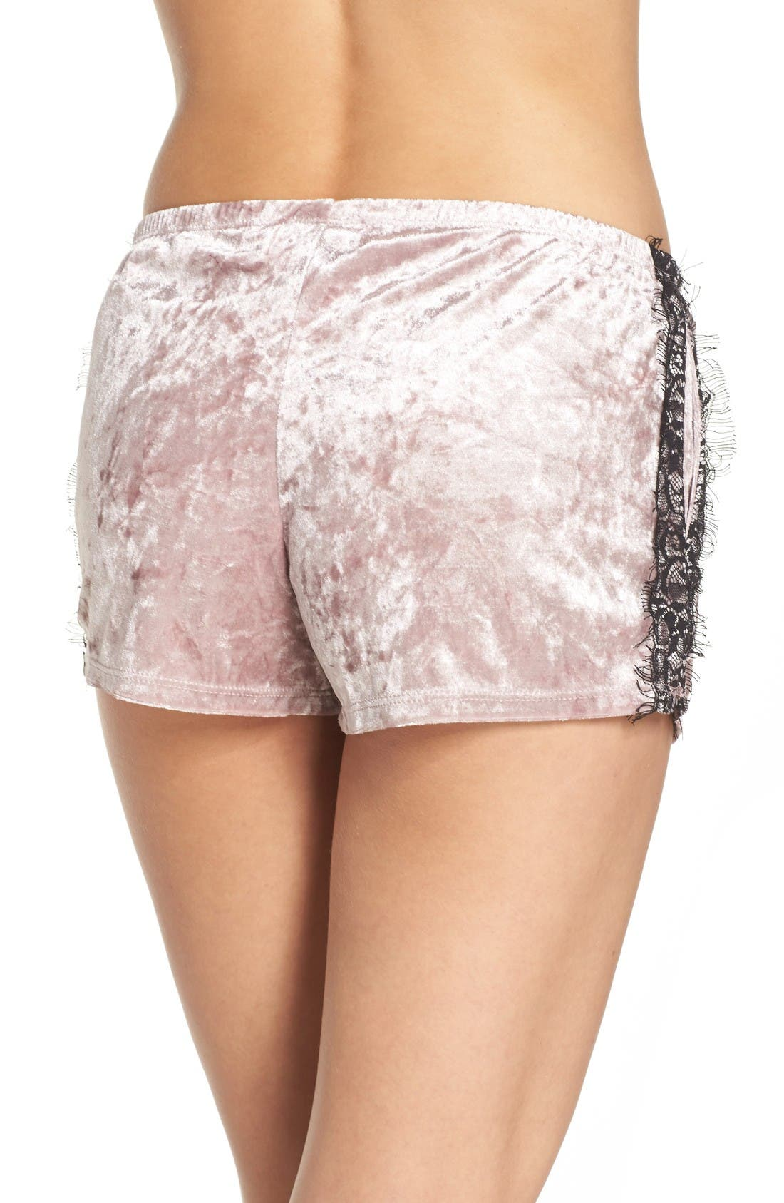 Alternate Image 2  - Band of Gypsies Velvet Shorts