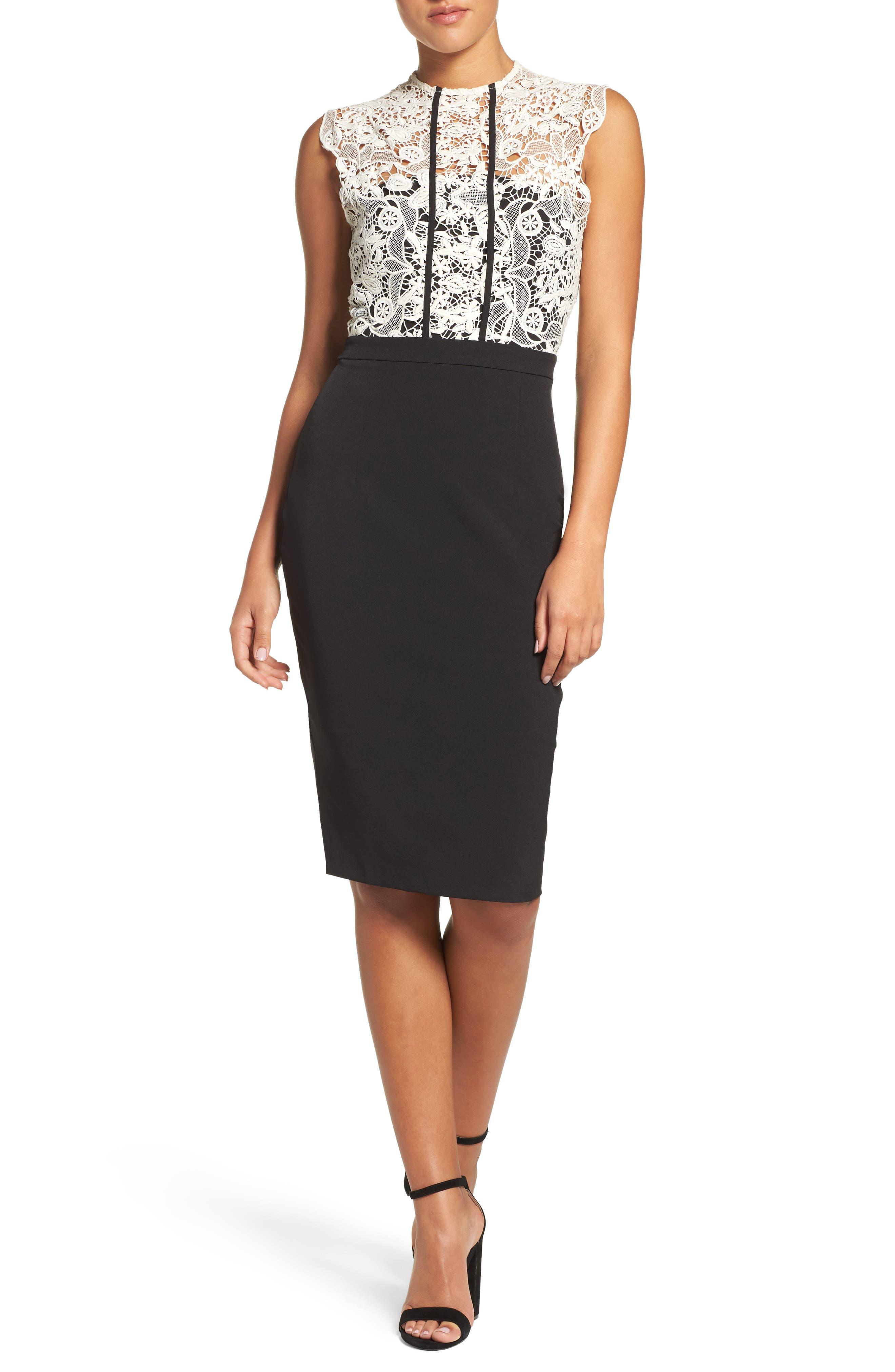 Alternate Image 1 Selected - Cooper St Palatial Lace Midi Dress