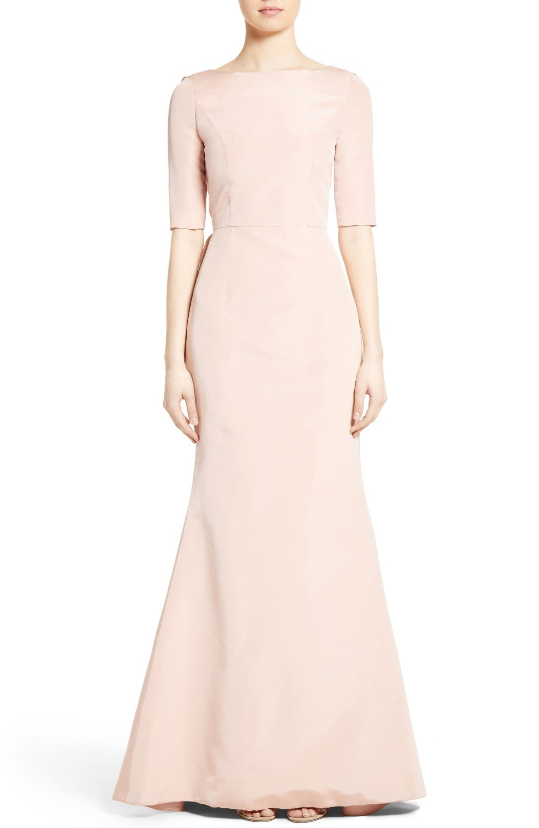 Carolina Herrera Draped V-Back Gown