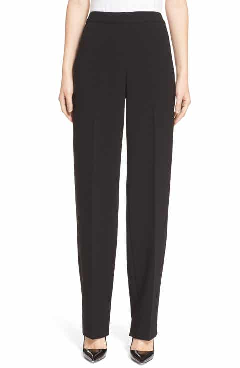St. John Collection 'Diana' Straight Leg Crepe Marocain Pants Best Reviews
