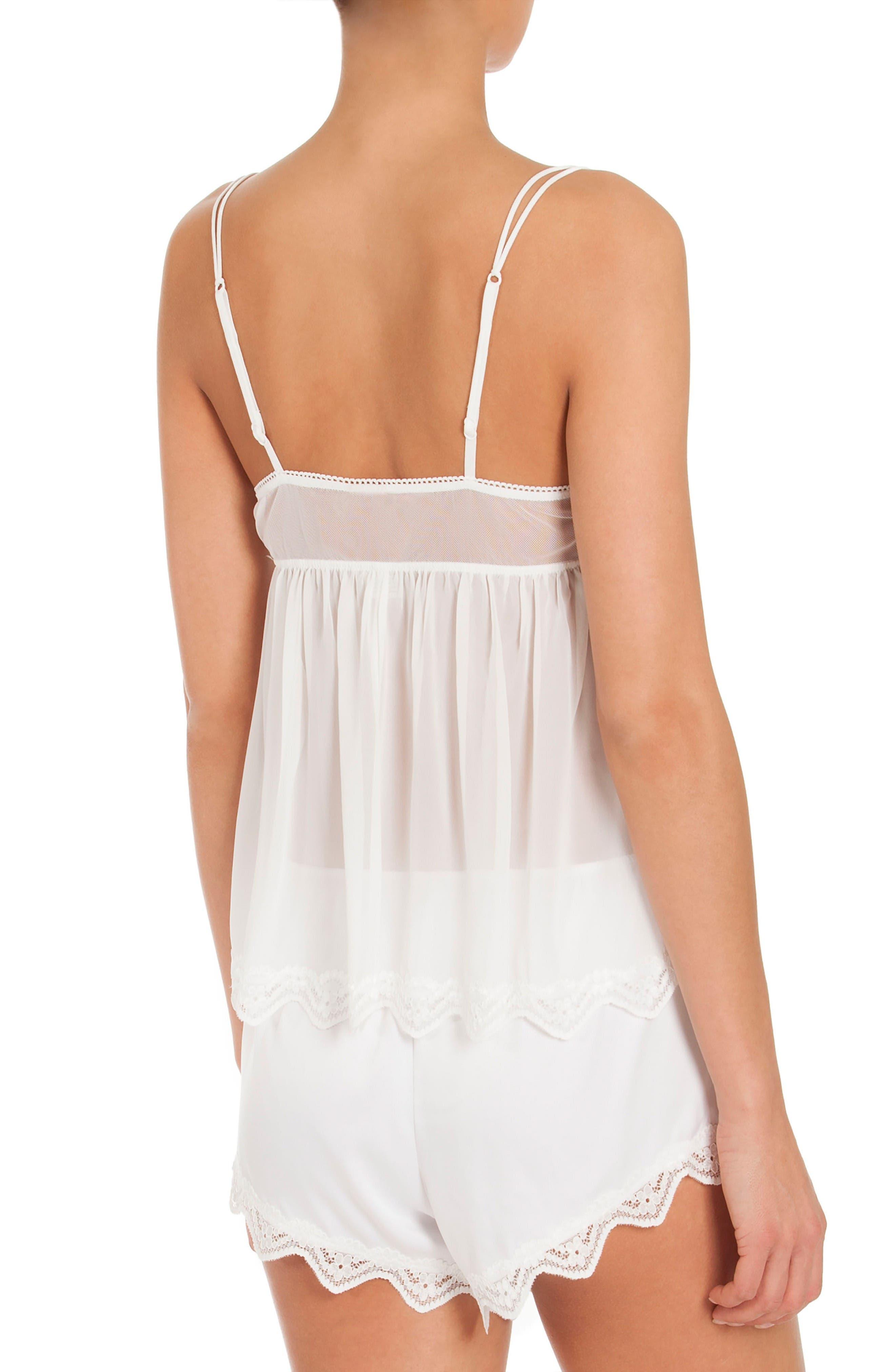 Chiffon Pajamas,                             Alternate thumbnail 2, color,                             Off-White