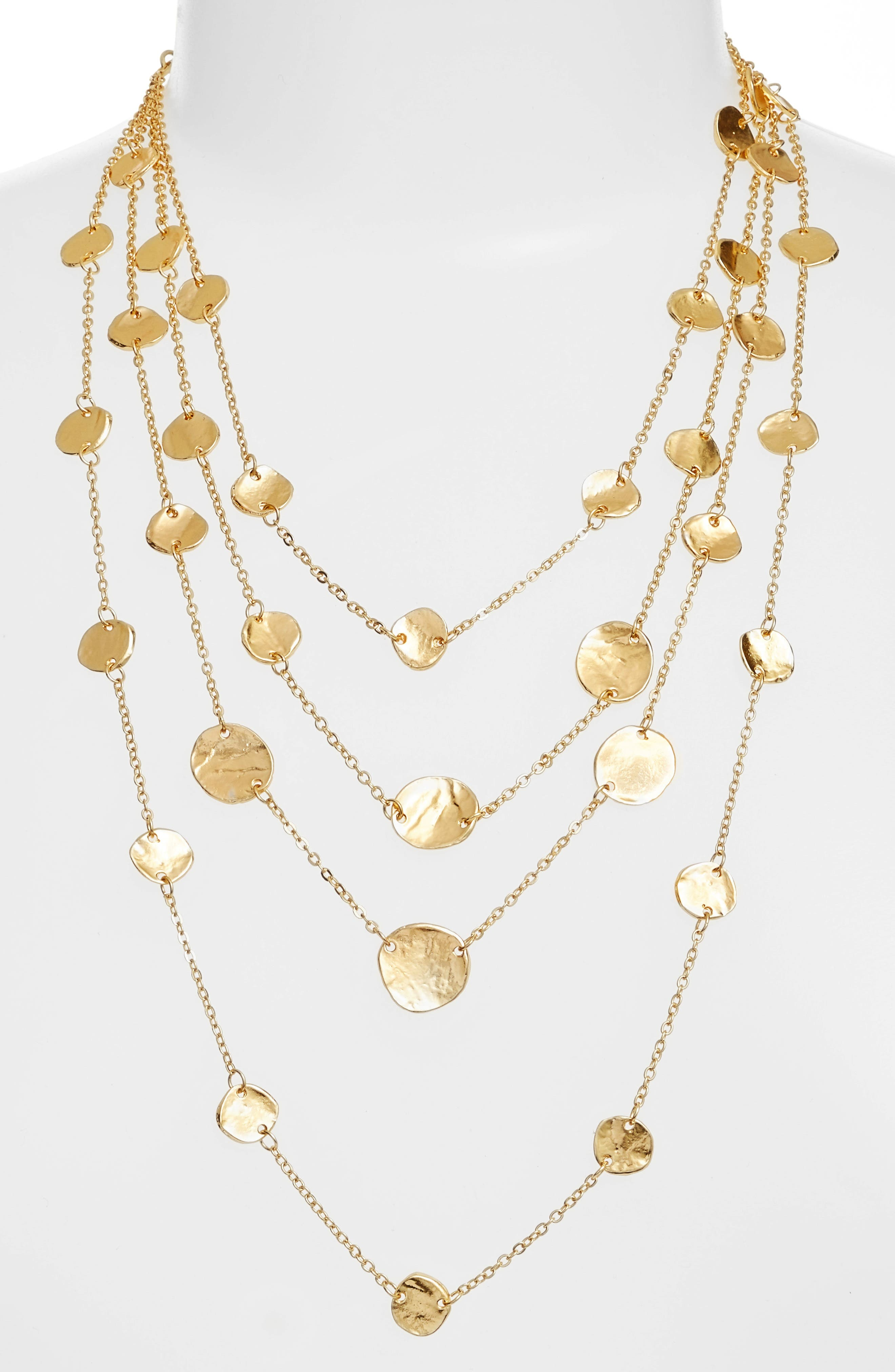 Manon Layered Necklace,                             Alternate thumbnail 2, color,                             Gold