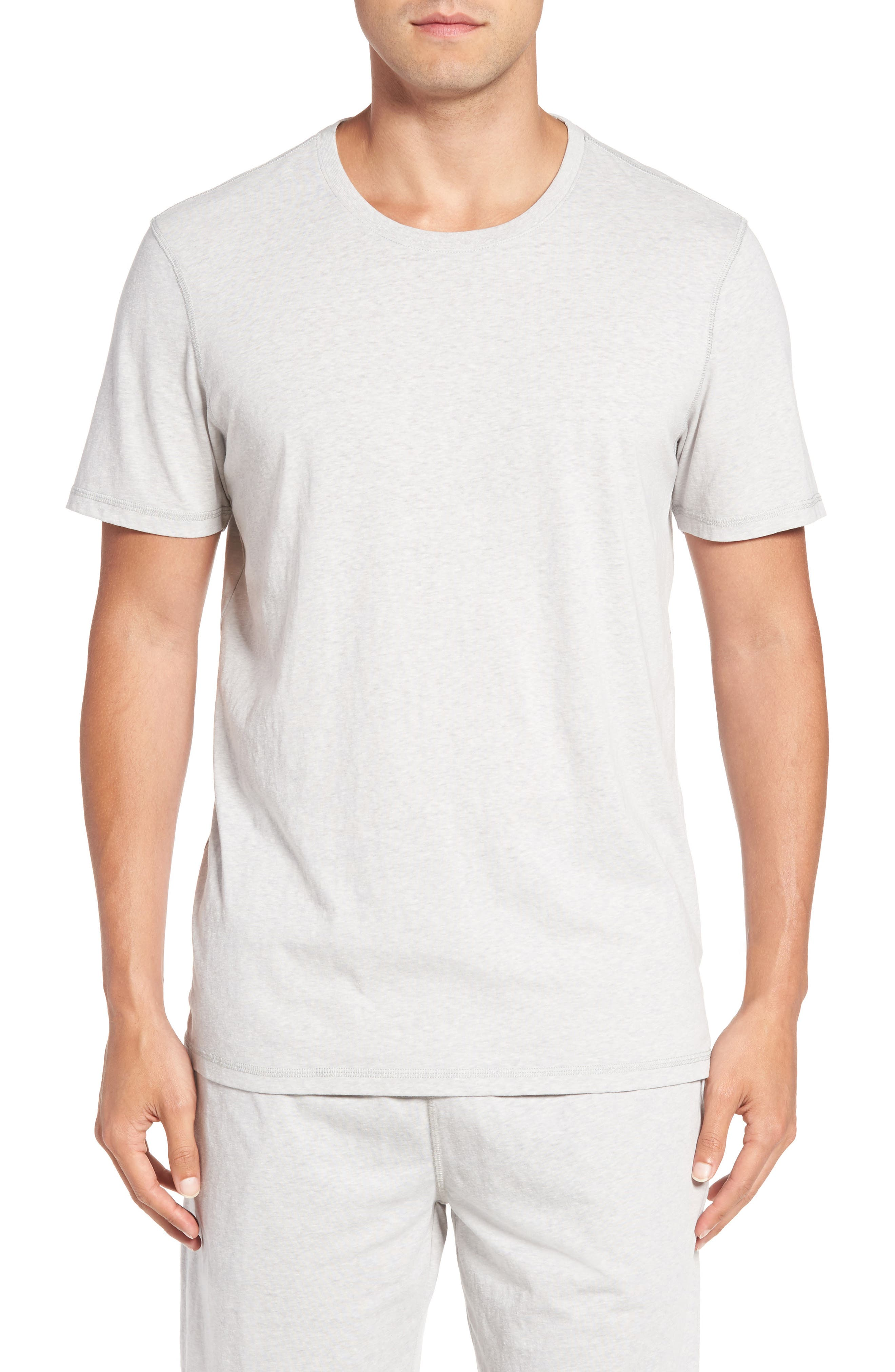 Recycled Cotton Blend T-Shirt,                         Main,                         color, Grey