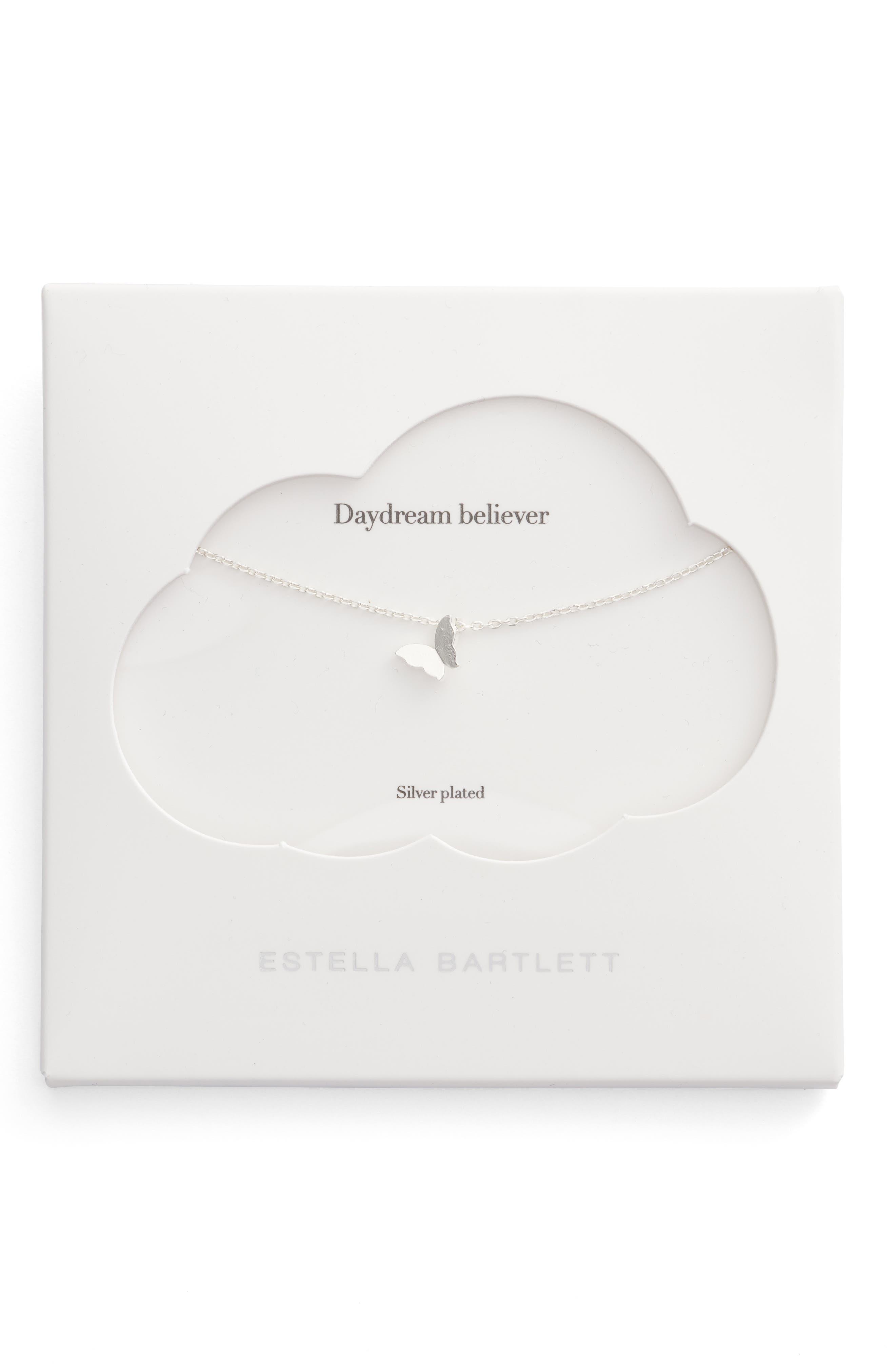 Main Image - Estella Bartlett Daydream Believers Butterfly Pendant Necklace