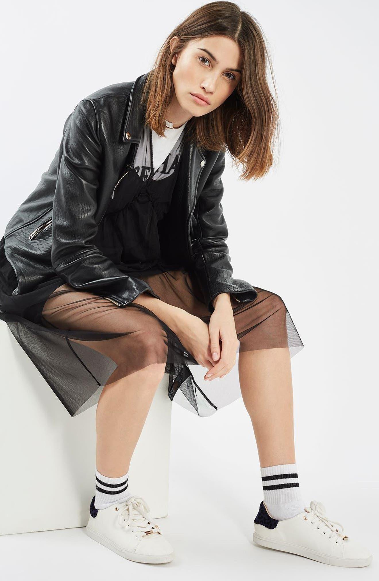 Alternate Image 2  - Topshop Tulle Midi Dress