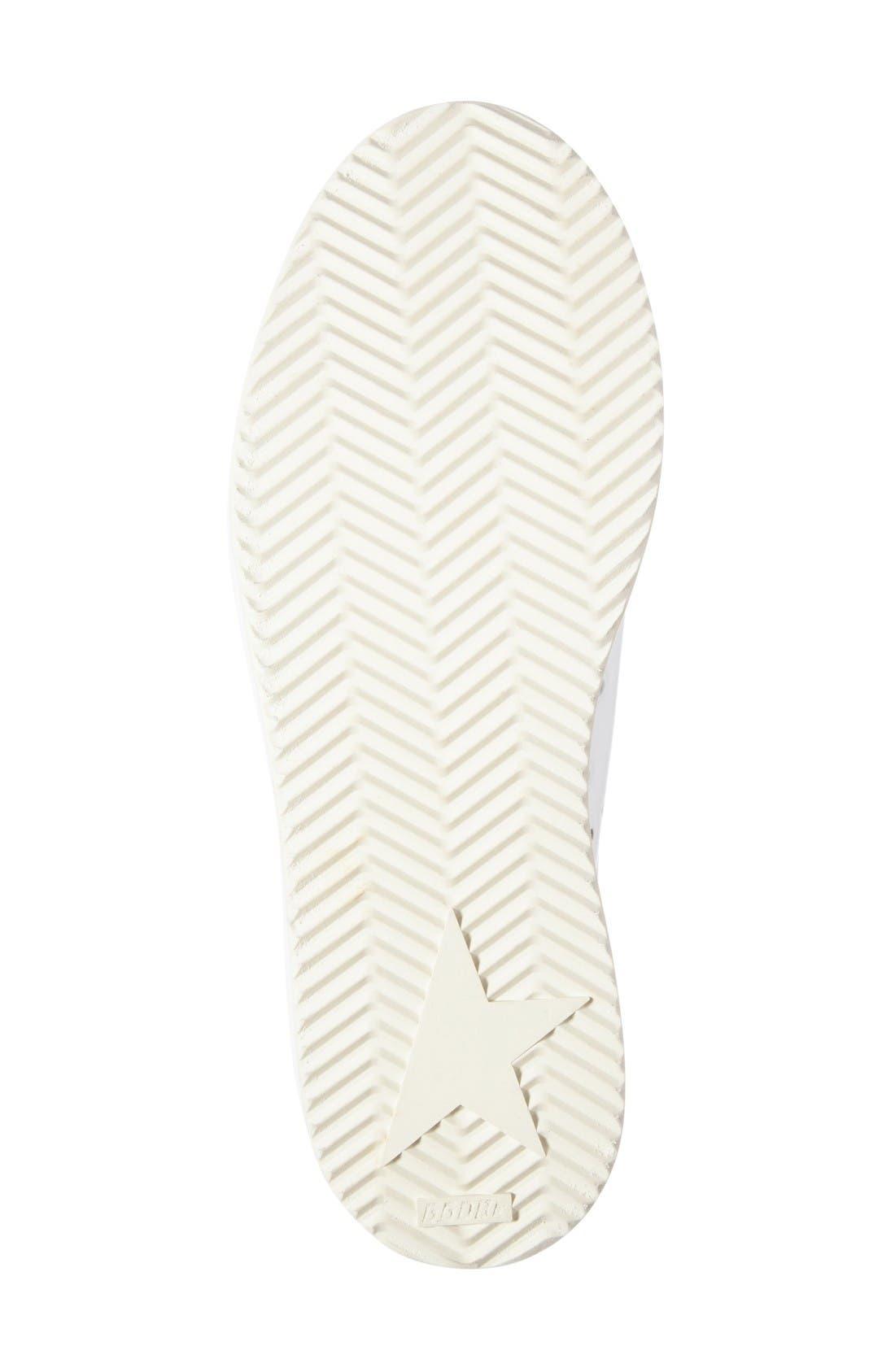 'Starter' Low Top Sneaker,                             Alternate thumbnail 4, color,                             White/ Silver Glitter