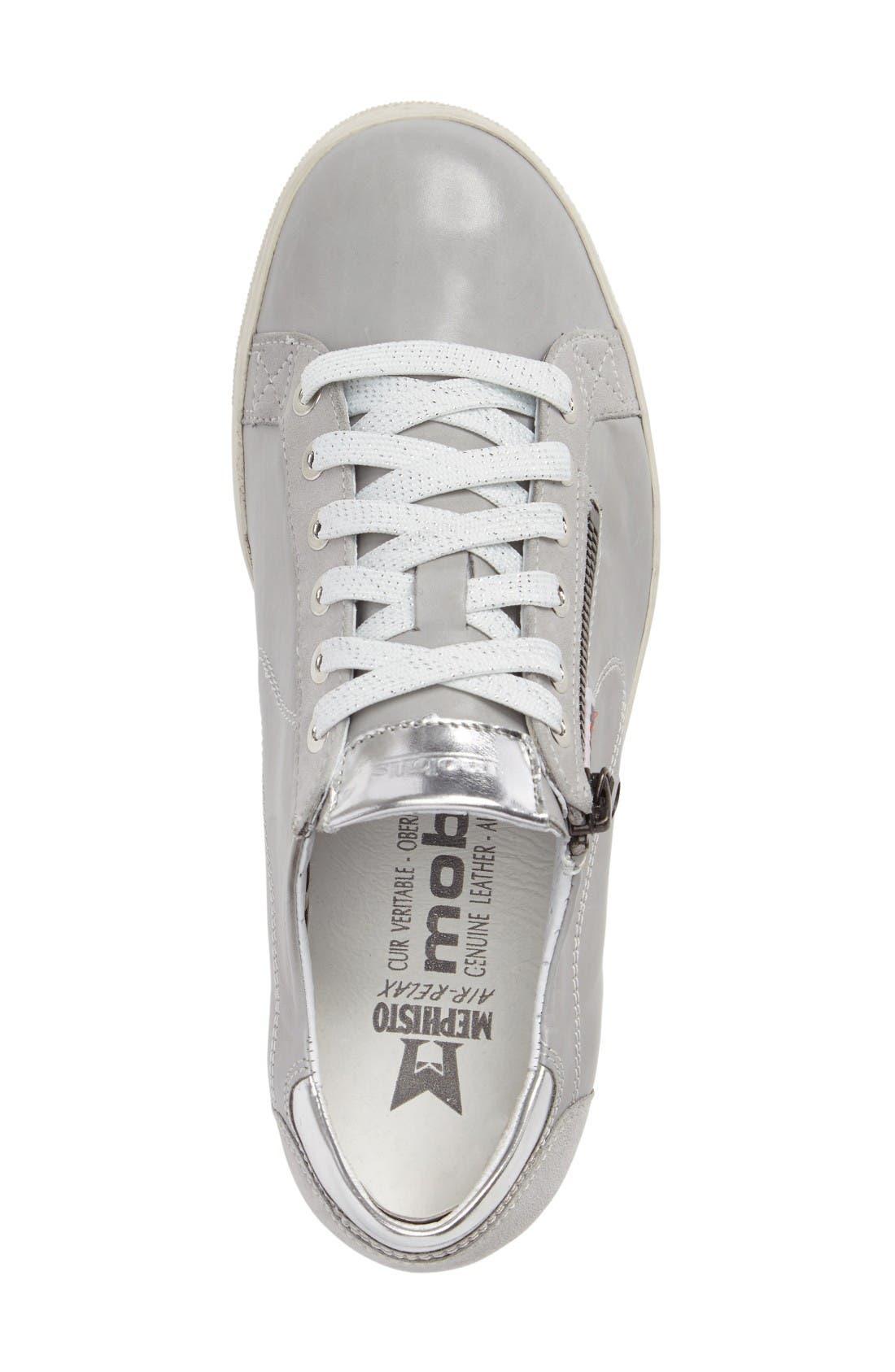 Hawai Sneaker,                             Alternate thumbnail 3, color,                             Light Grey Calfskin Leather